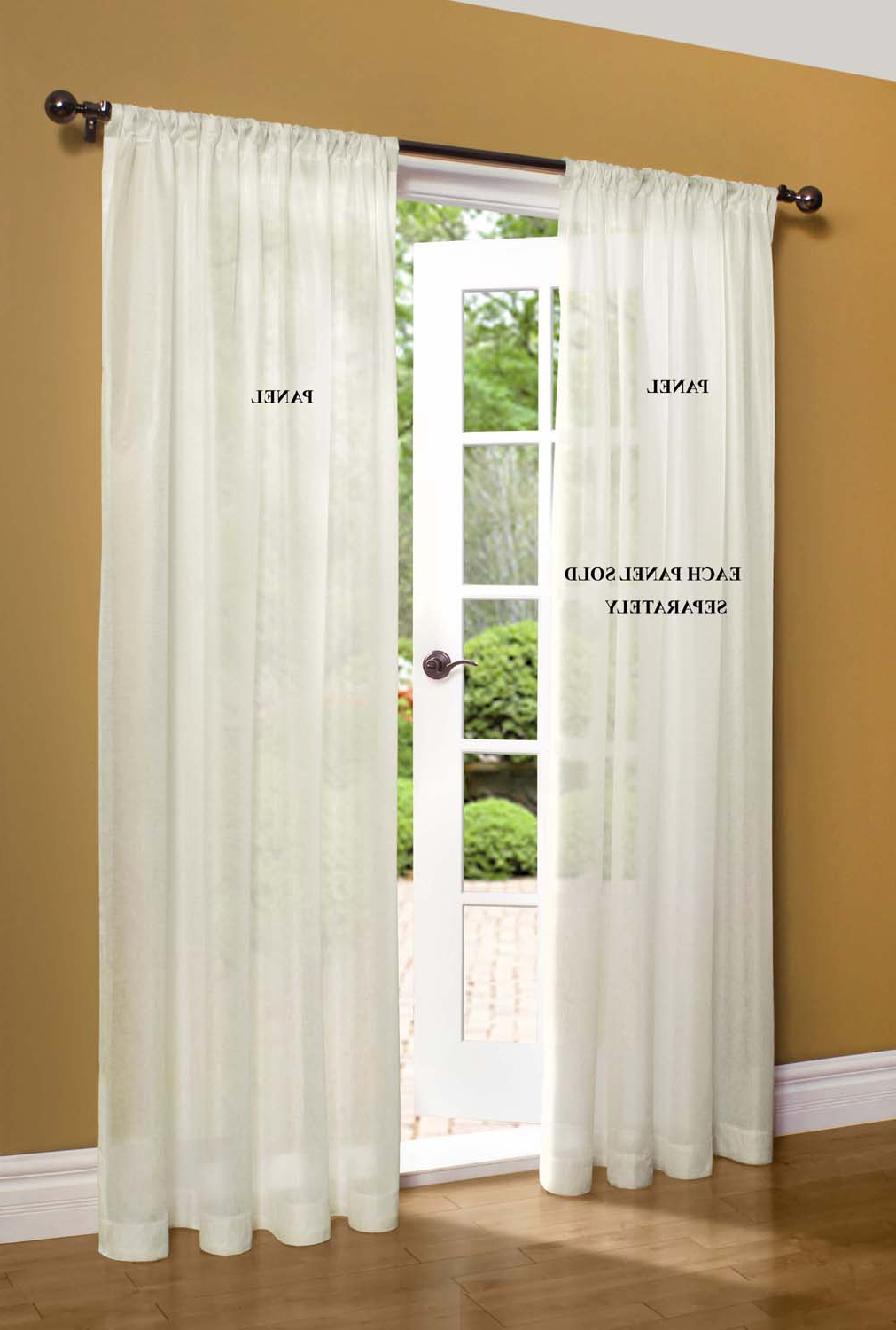 Popular Luxury Collection Venetian Sheer Curtain Panel Pairs Regarding Sheer Window Curtains Ï¿½thecurtainshop (View 18 of 20)