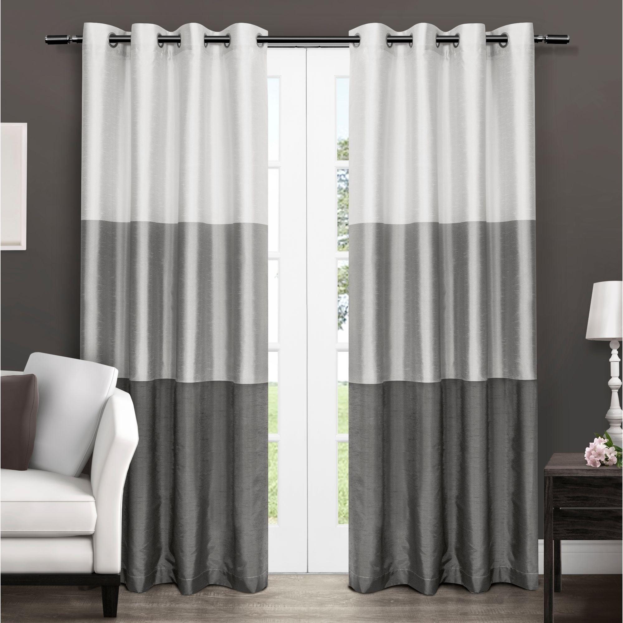 Popular Ocean Striped Window Curtain Panel Pairs With Grommet Top Inside Porch & Den Ocean Striped Window Curtain Panel Pair With Grommet Top (View 2 of 20)