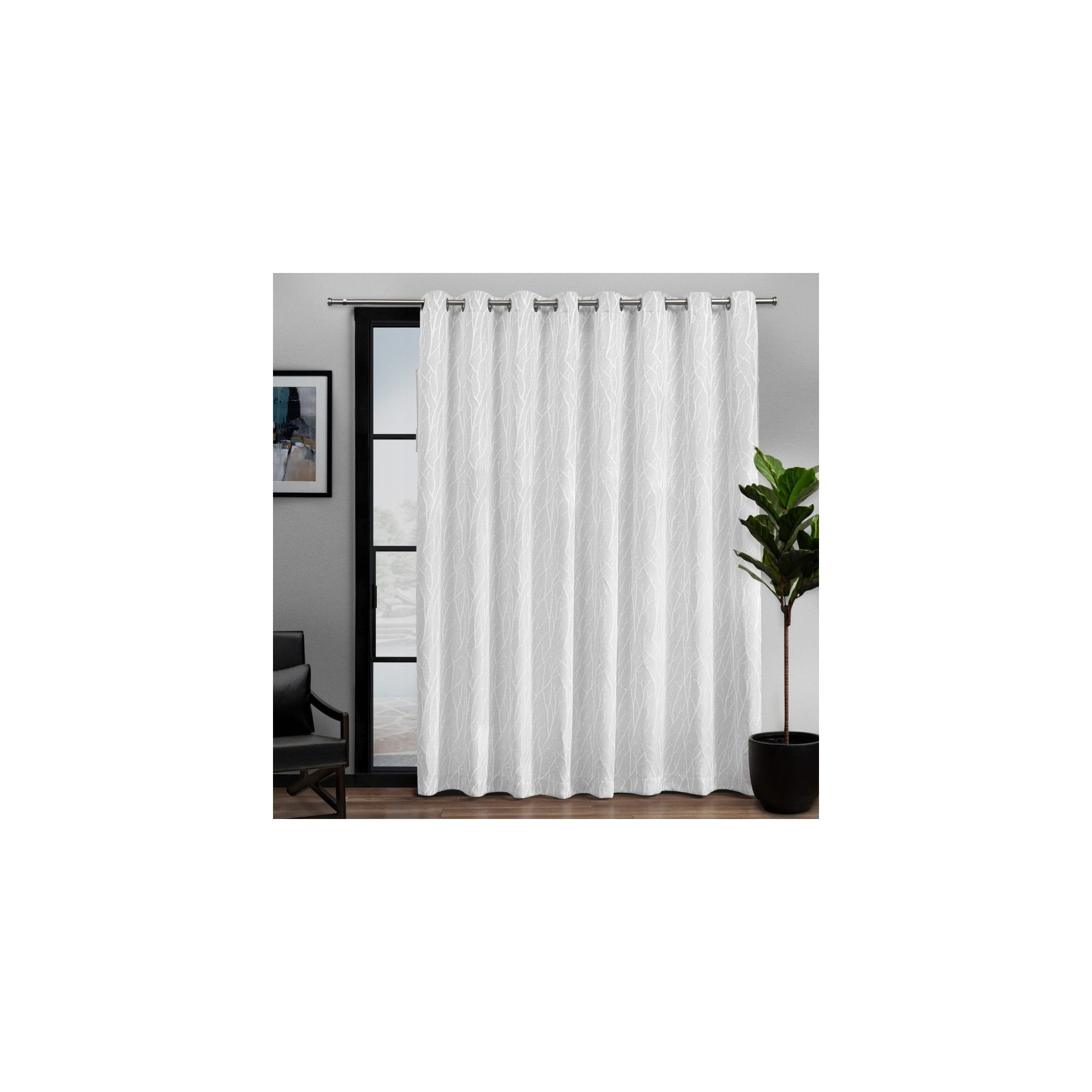 "Popular Patio Grommet Top Single Curtain Panels In 108""x84"" Forest Hill Patio Woven Blackout Grommet Top Single (View 13 of 20)"