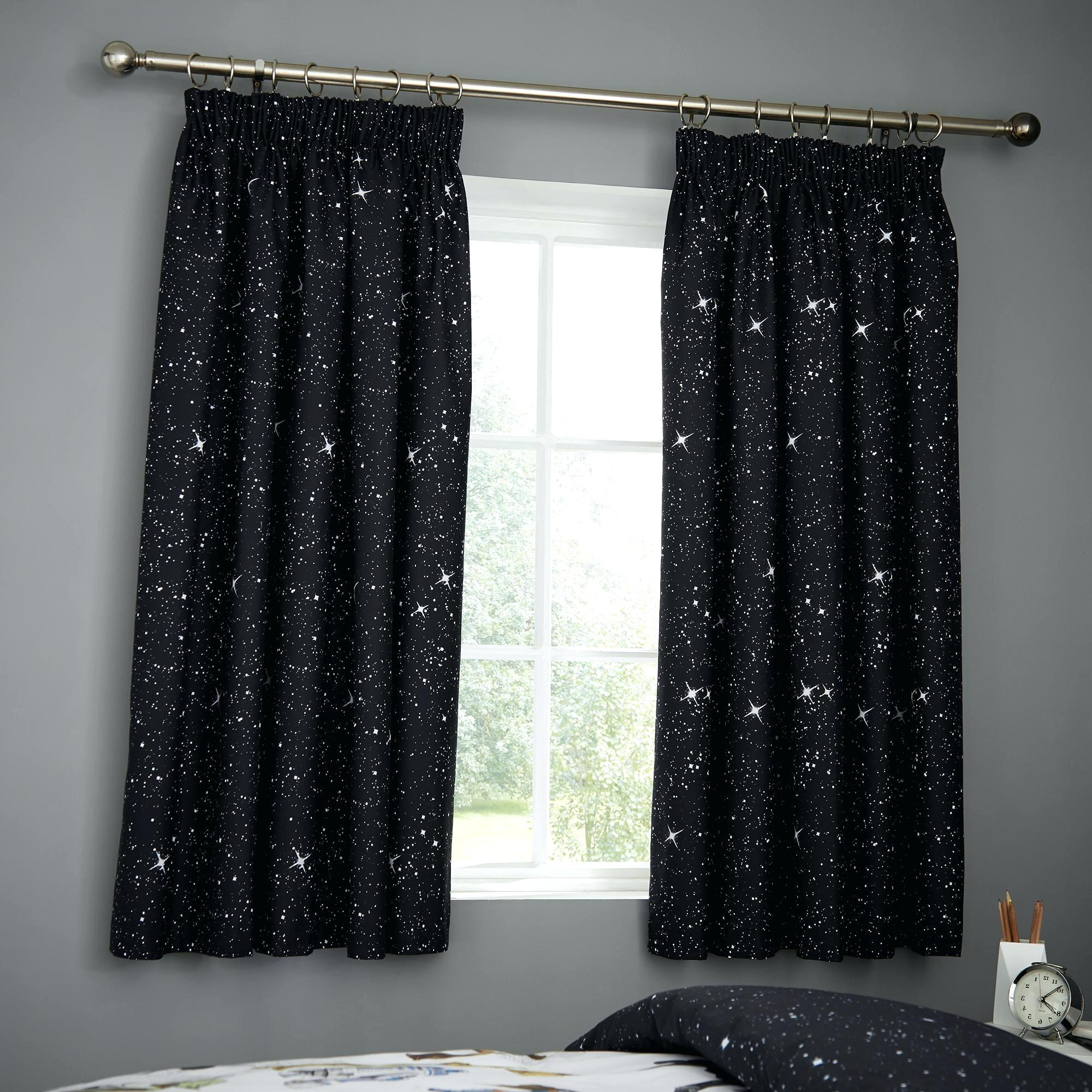 Popular Star Curtains Within Star Punch Tulle Overlay Blackout Curtain Panel Pairs (View 16 of 20)