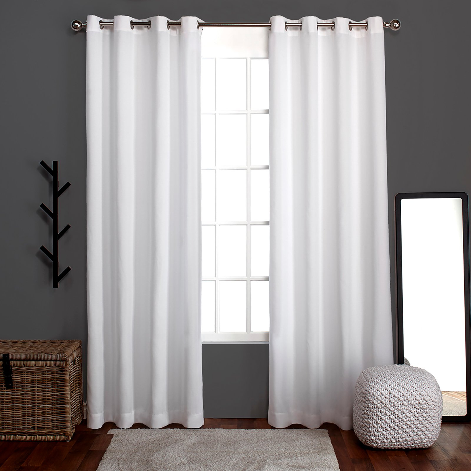 Popular Sugar Creek Grommet Top Loha Linen Window Curtain Panel Pairs Within Exclusive Home Loha Grommet Curtain Panel Pair Winter White (View 10 of 20)
