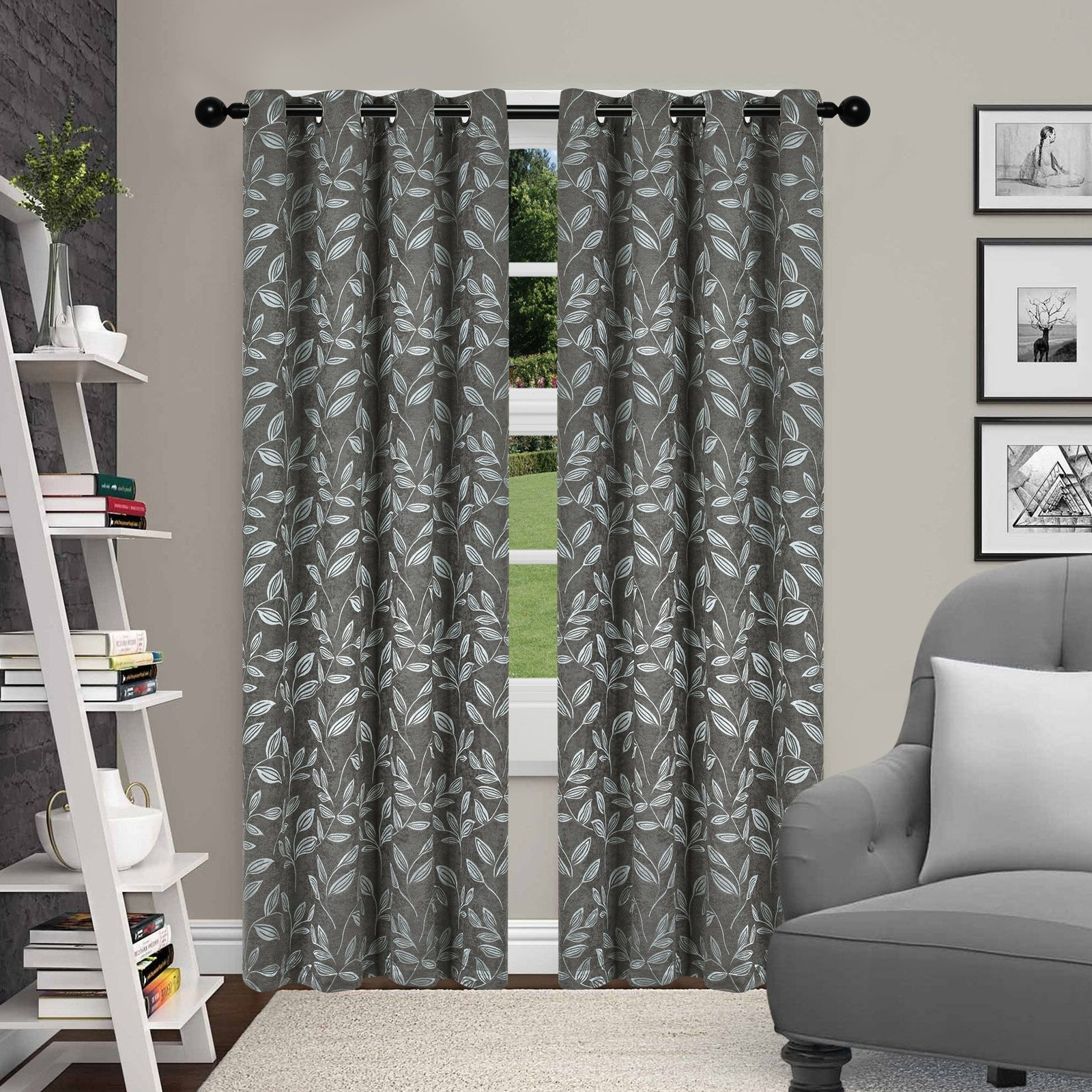 Popular Superior Leaves Blackout 2 Panel Curtains Ivory In 2019 For Superior Leaves Insulated Thermal Blackout Grommet Curtain Panel Pairs (View 9 of 20)