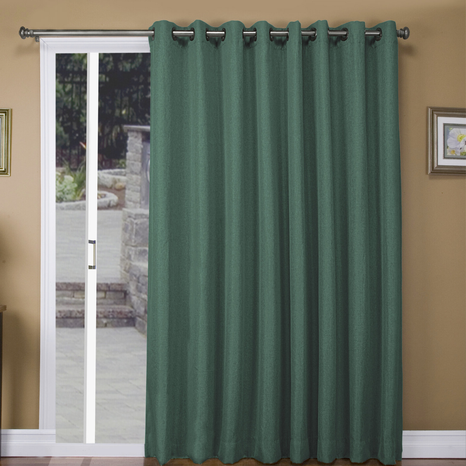 Popular Tacoma Patio Solid Blackout Thermal Grommet Single Curtain Panel Within Tacoma Double Blackout Grommet Curtain Panels (View 13 of 20)