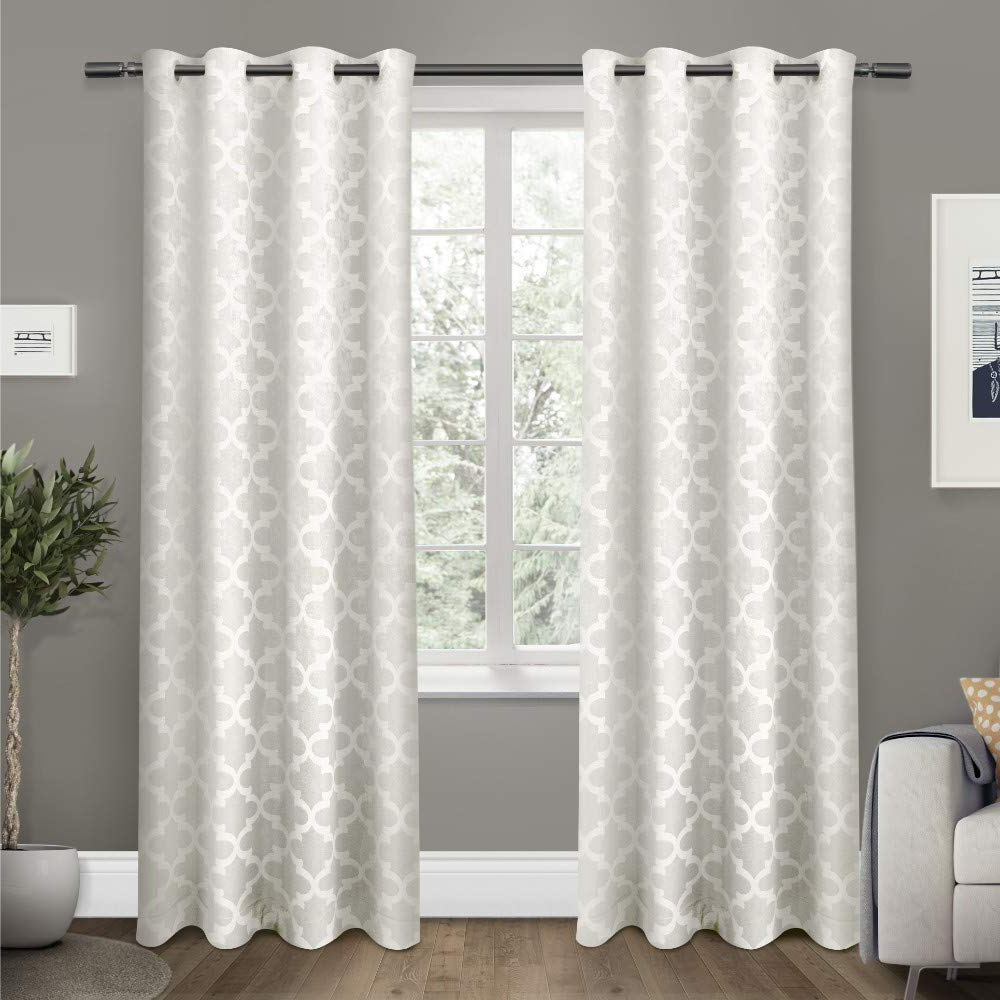 Popular Twig Insulated Blackout Curtain Panel Pairs With Grommet Top With Regard To Exclusive Home Curtains Cartago Insulated Woven Blackout Window Curtain Panel Pair With Grommet Top, 54x108, Vanilla, 2 Piece (View 12 of 20)