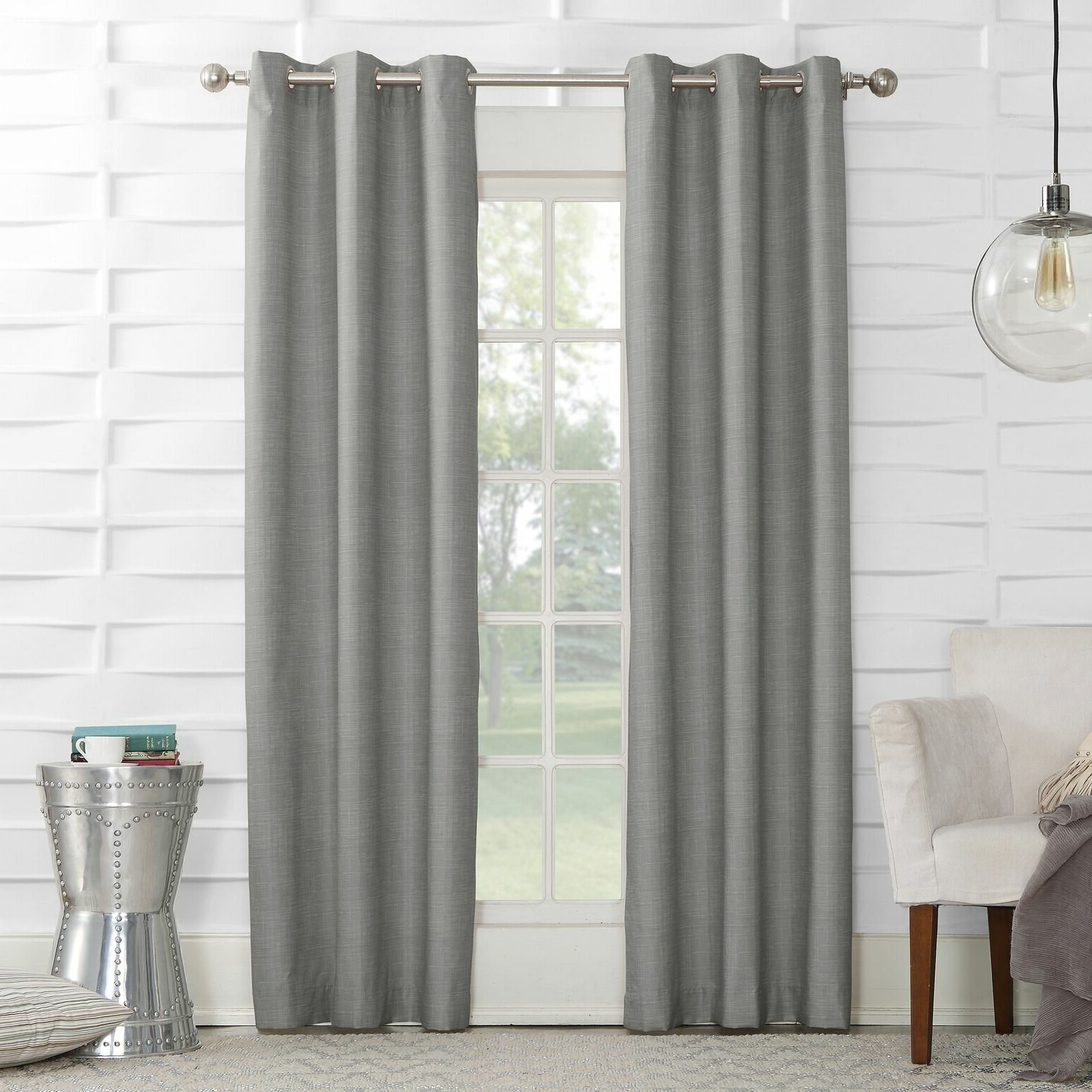 Popular Winslow Solid Room Darkening Thermal Grommet Single Curtain Panel With Regard To Thermal Textured Linen Grommet Top Curtain Panel Pairs (View 13 of 20)