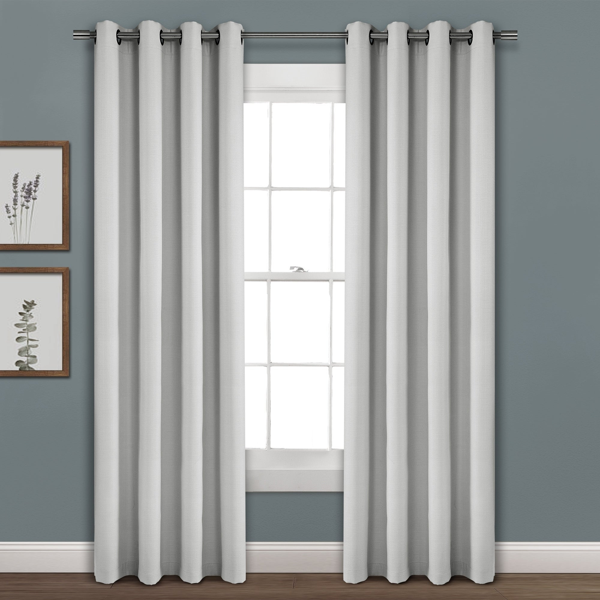 Porch & Den Limpus Faux Linen Grommet Top Blackout Curtain Panel Within Most Popular Faux Linen Blackout Curtains (View 8 of 20)