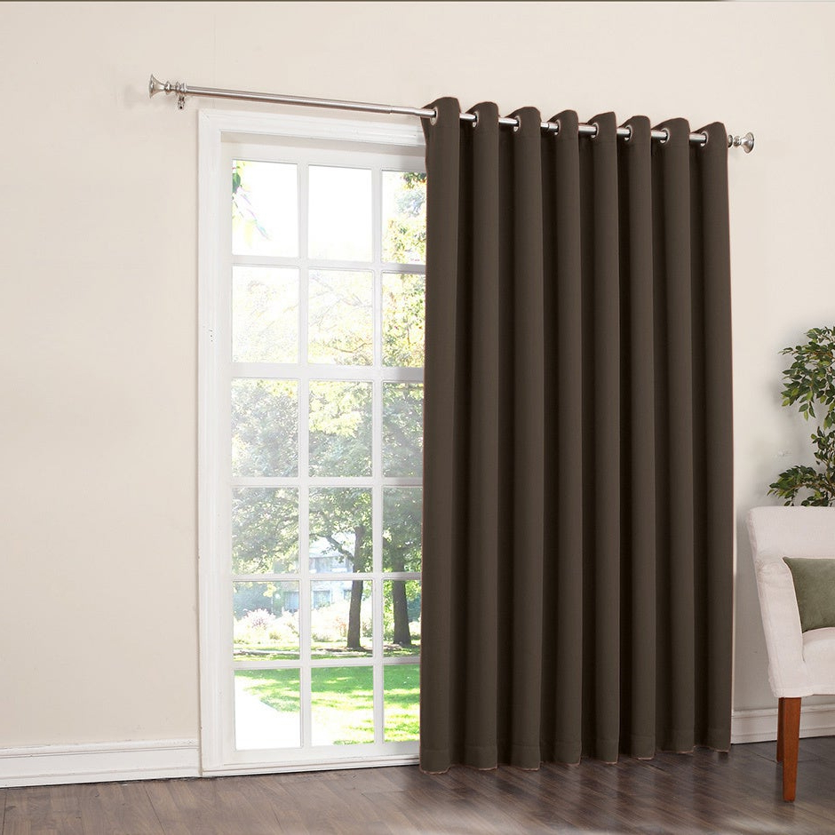 Porch & Den Nantahala Rod Pocket Room Darkening Patio Door Single Curtain Panel Throughout Most Current Hayden Grommet Blackout Single Curtain Panels (View 15 of 20)