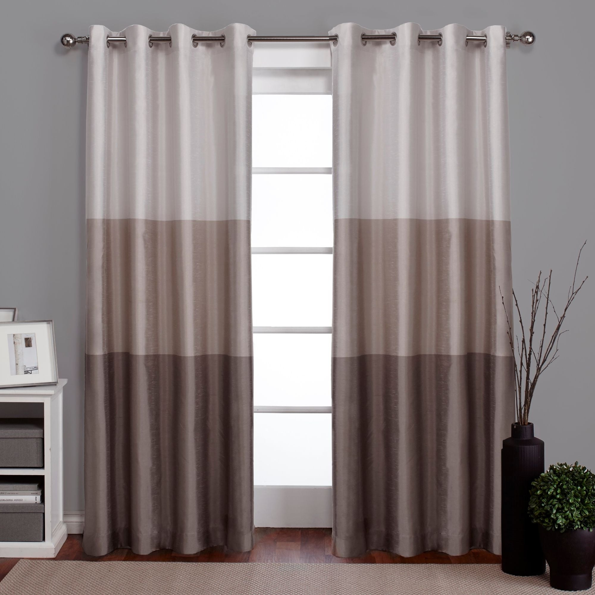 Featured Photo of Ocean Striped Window Curtain Panel Pairs With Grommet Top