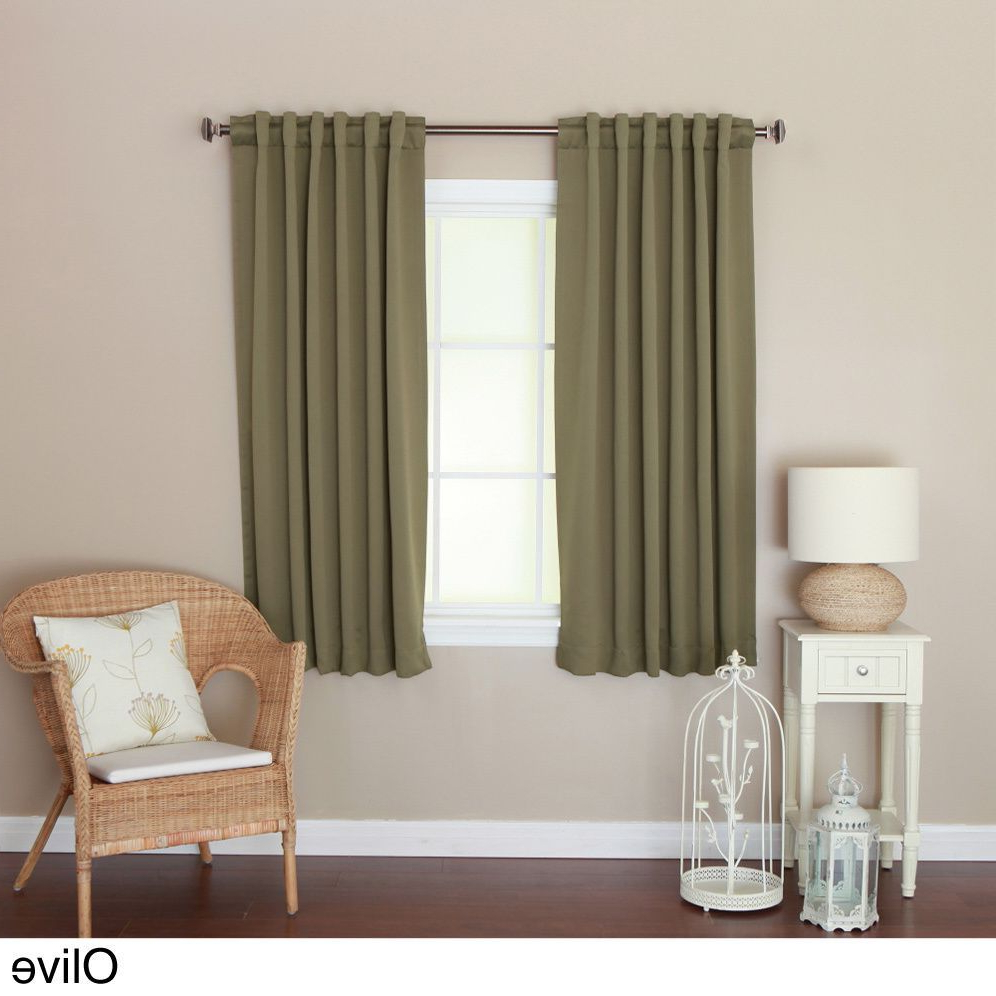 Preferred Aurora Home Insulated 72 Inch Thermal Blackout Curtain Panel In Solid Insulated Thermal Blackout Curtain Panel Pairs (View 19 of 20)