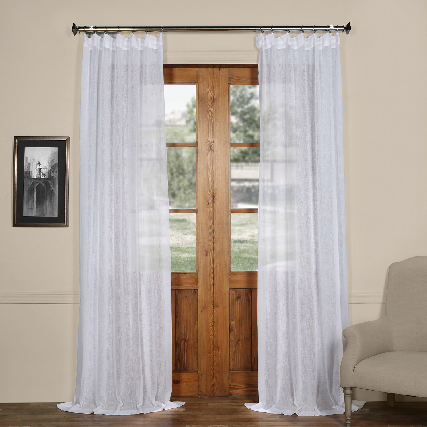 Preferred Bowley Solid Sheer Tab Top Single Curtain Panel In Tab Top Sheer Single Curtain Panels (View 5 of 20)