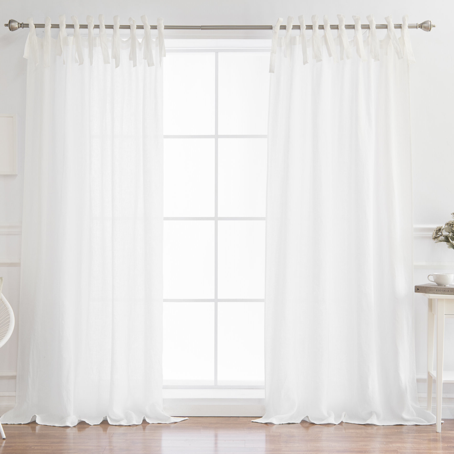 Preferred Dungannon Solid Semi Sheer Tab Top Single Curtain Panel Within Tab Top Sheer Single Curtain Panels (View 3 of 20)
