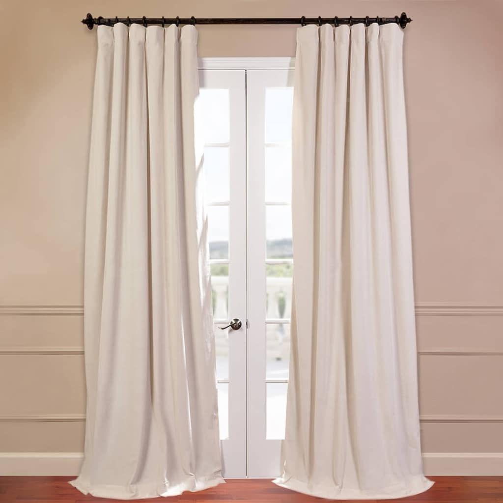 Preferred Eff Eff Blackout 1 Panel Signature Velvet Window Curtain With Regard To Signature Ivory Velvet Blackout Single Curtain Panels (View 10 of 20)