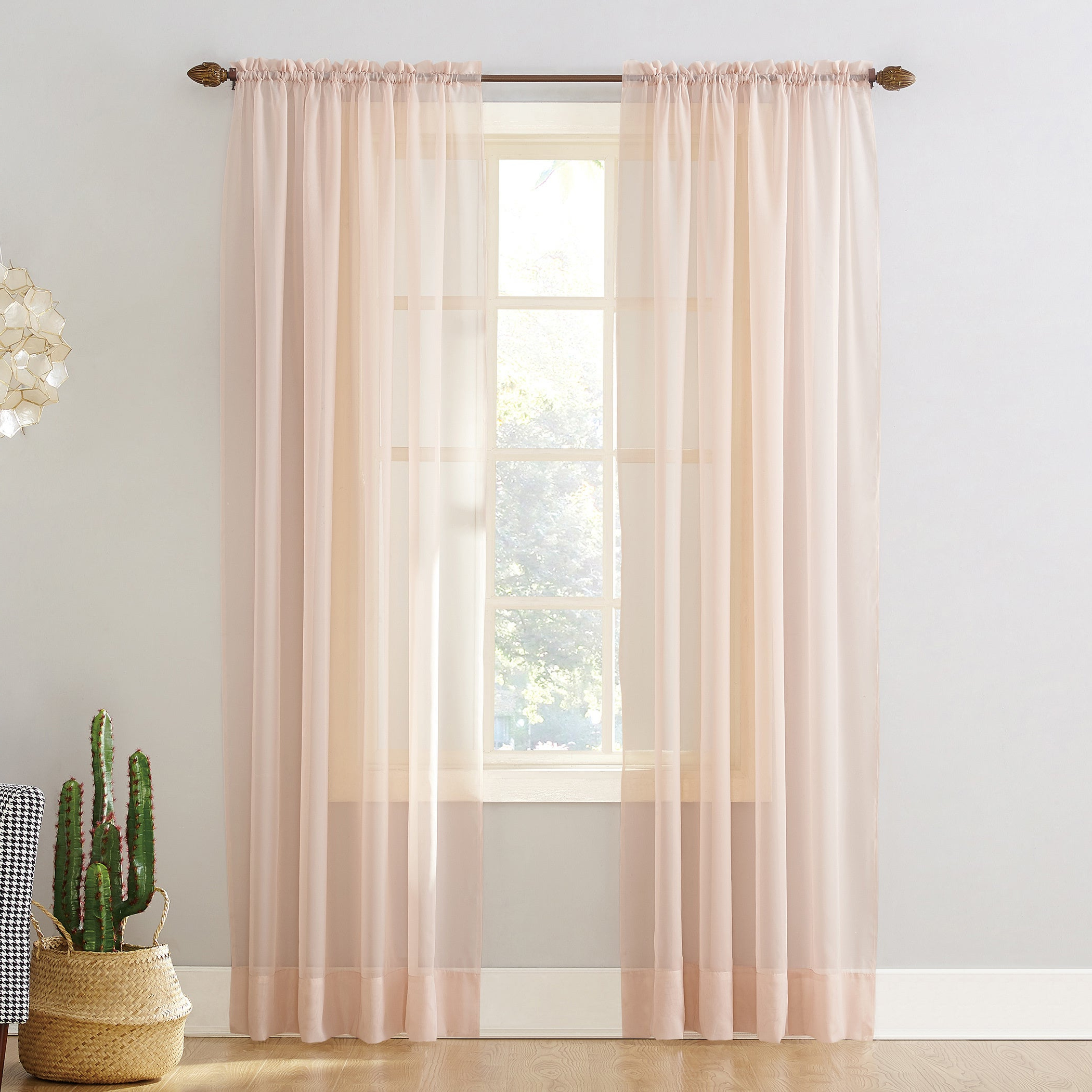 Preferred Emily Sheer Voile Single Curtain Panels Regarding Shop No (View 16 of 20)