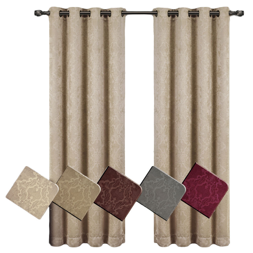 Preferred Insulated Blackout Grommet Window Curtain Panel Pairs Within Pair Of 2) Bella Blackout Weave Embossed Grommet Window (View 14 of 20)