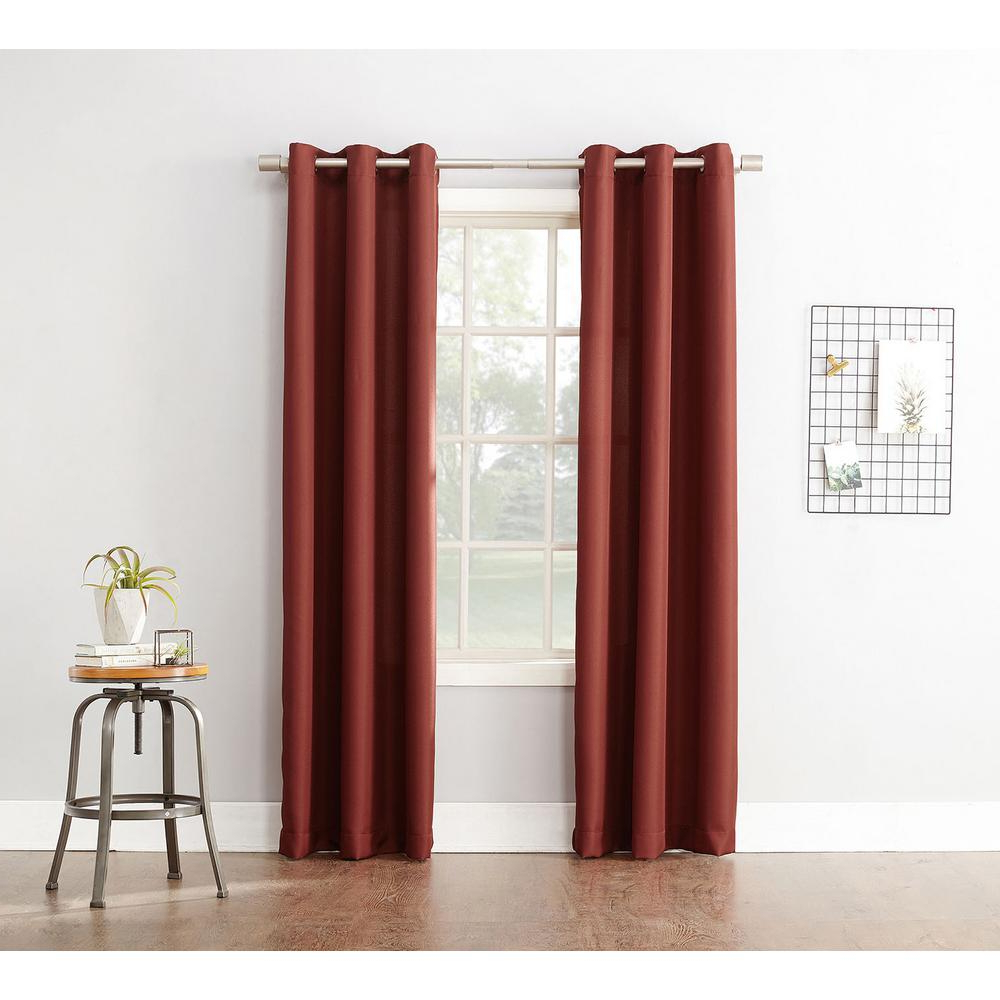 Preferred Intersect Grommet Woven Print Window Curtain Panels Inside Semi Opaque Paprika No. 918 Casual Montego Woven Grommet Top Curtain Panel, 48 In. W X 63 In (View 15 of 20)