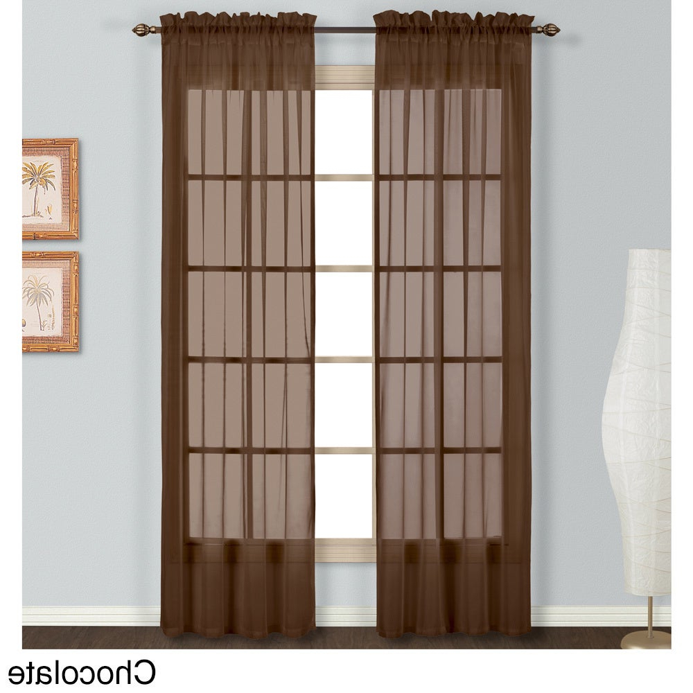 Preferred Luxury Collection Monte Carlo Sheer Curtain Panel Pair Pertaining To Luxury Collection Monte Carlo Sheer Curtain Panel Pairs (View 4 of 20)