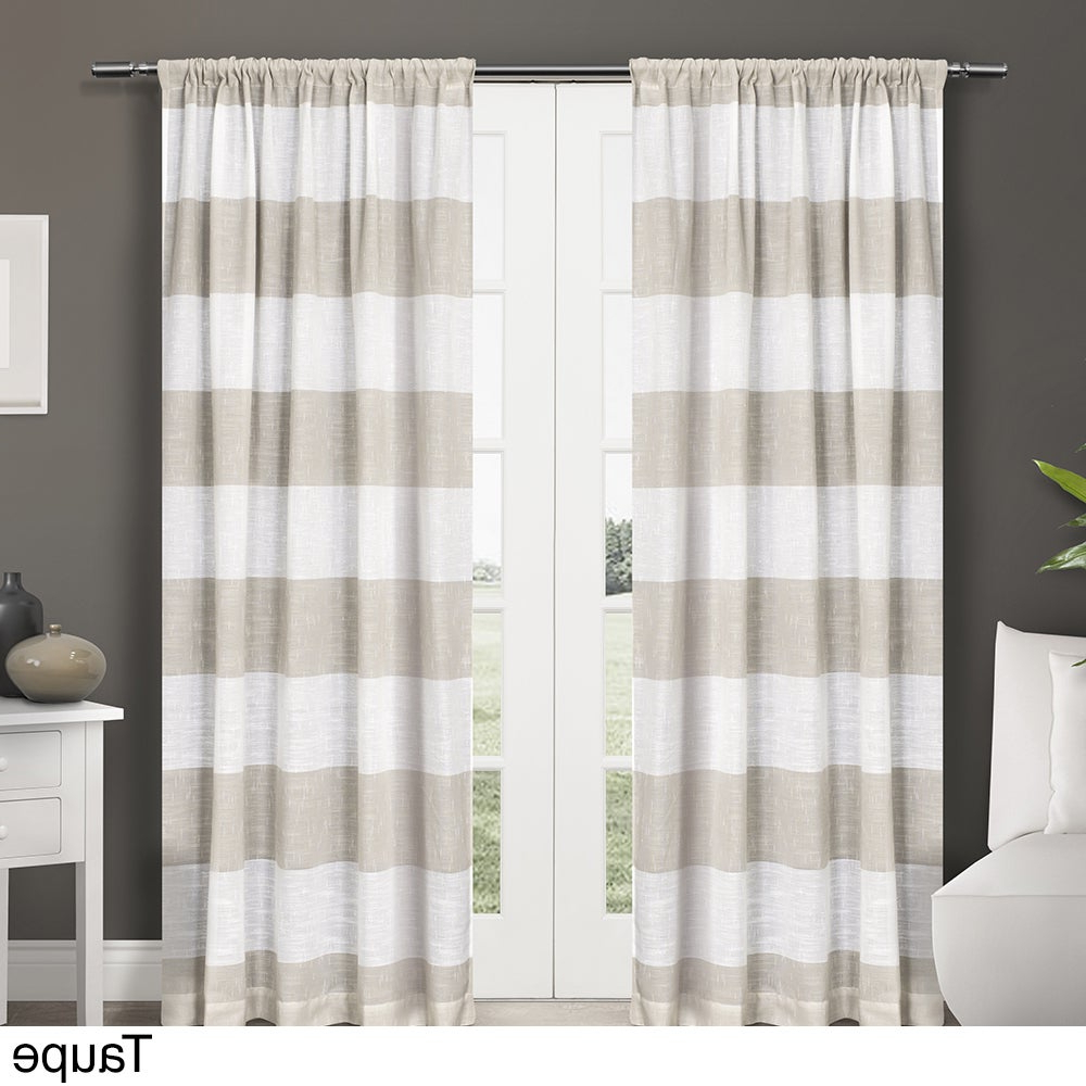 Preferred Luxury Collection Venetian Sheer Curtain Panel Pairs Regarding Ati Home Darma Semi Sheer Rod Pocket Window Curtain Panel Pair (View 6 of 20)