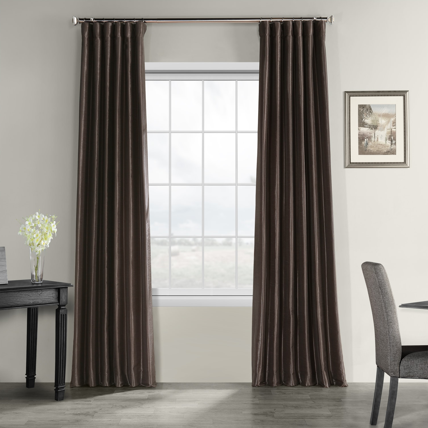 Preferred Off White Vintage Faux Textured Silk Curtains Pertaining To Urban Grey Vintage Textured Faux Dupioni Silk Curtain (View 18 of 20)