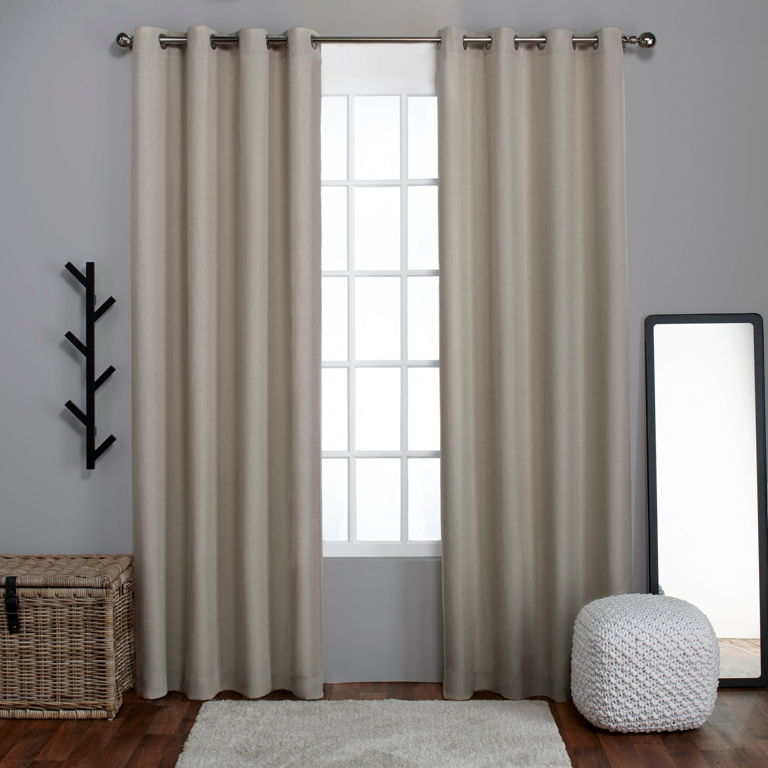 Preferred Porch & Den Sugar Creek Grommet Top Loha Linen Window Curtain Panel Pair In  Winter White (52X63)(As Is Item) (View 11 of 20)