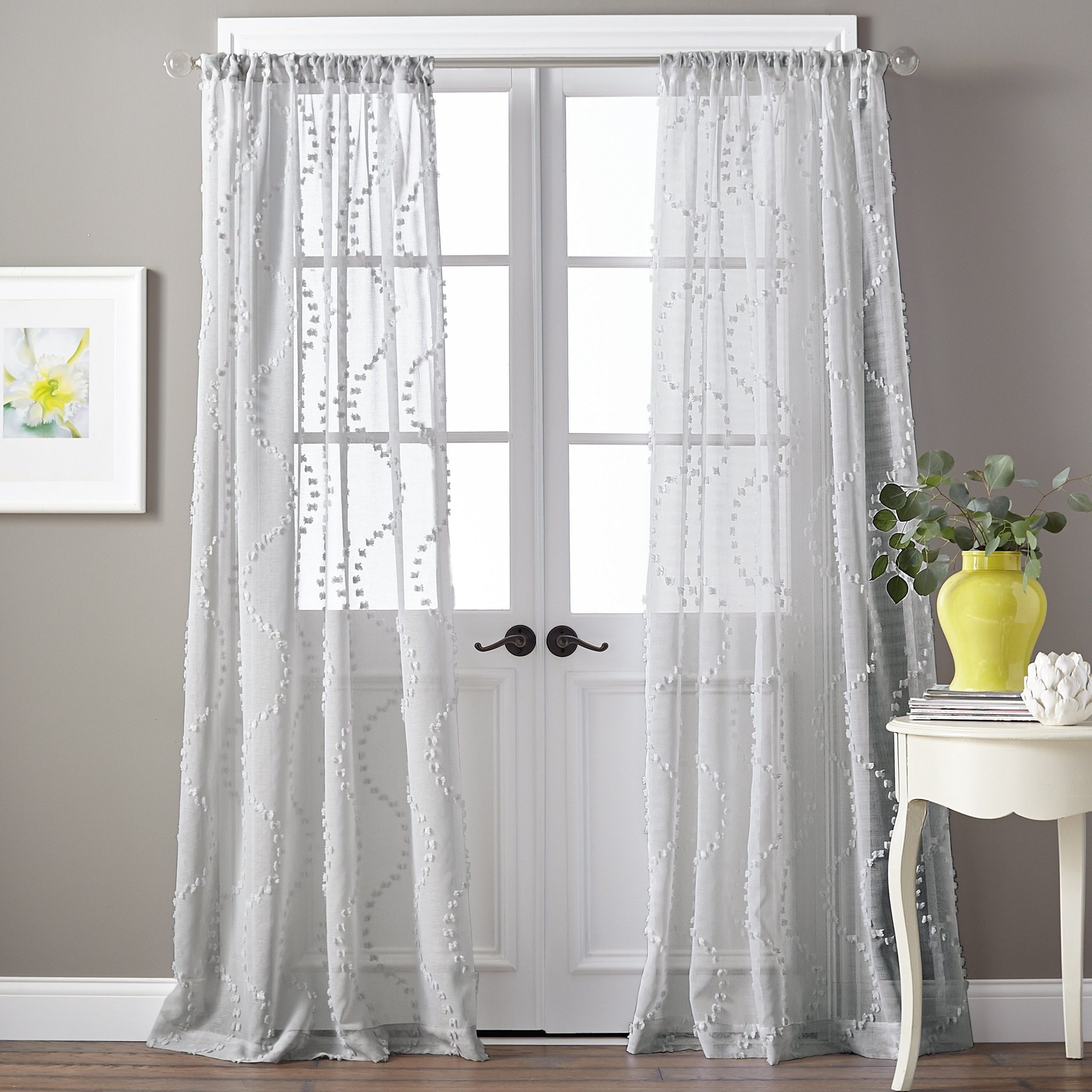 Preferred Single Curtain Panels Pertaining To Details About Dixon Wave Sheer Single Curtain Panel (View 14 of 20)