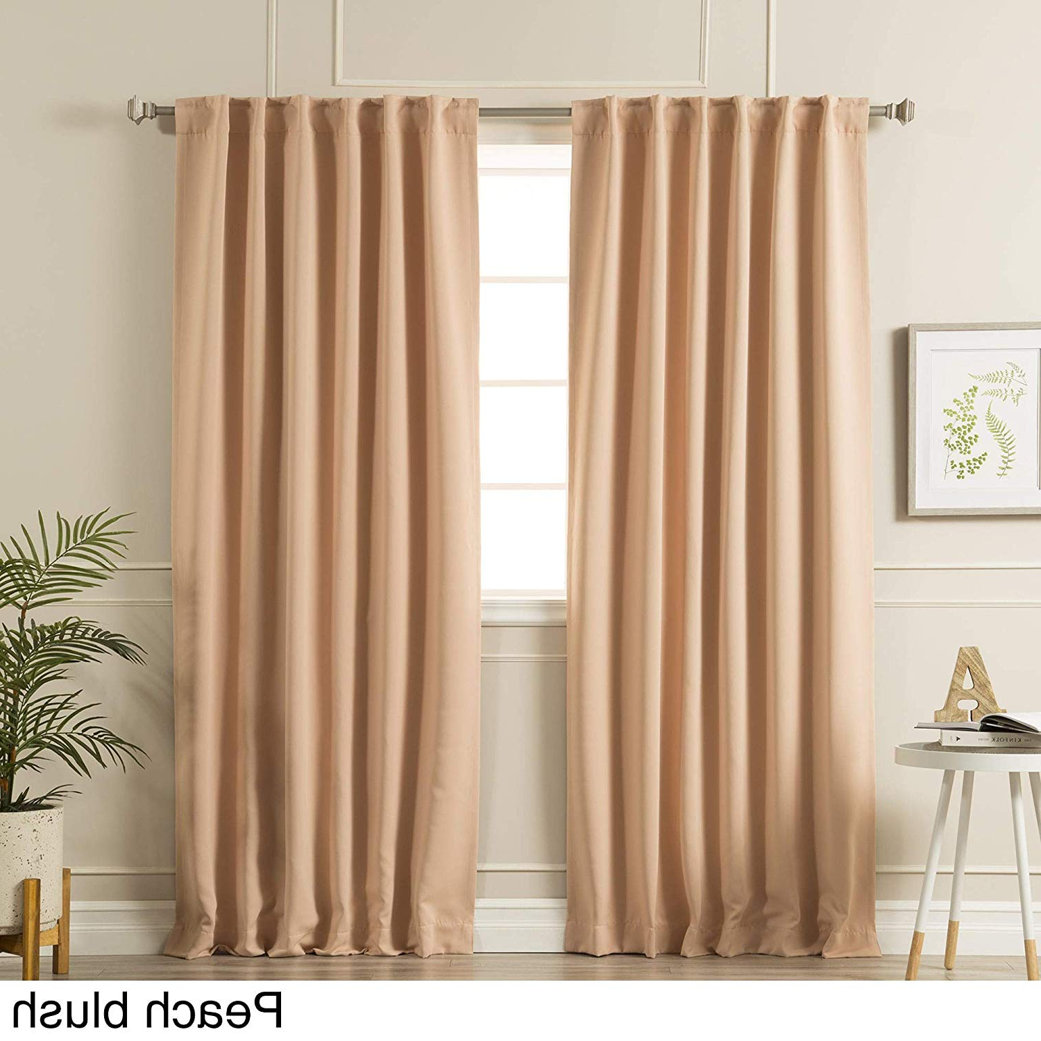 Preferred Solid Insulated Thermal Blackout Curtain Panel Pairs In Amazon: Aurora Home Solid Insulated Thermal Blackout (View 4 of 20)