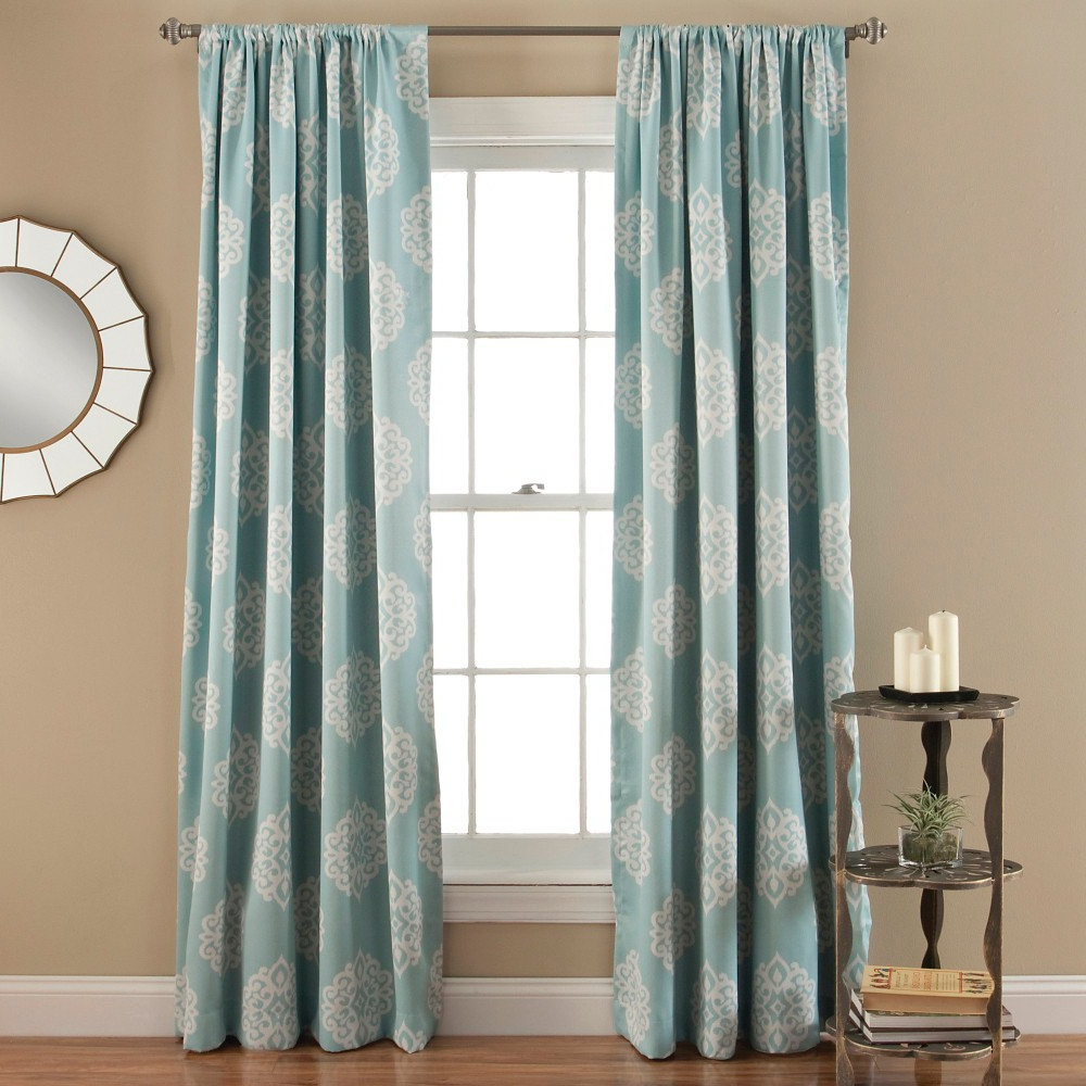 Preferred Sophie Curtain Panels Room Darkening – Set Of 2 – Blue With Regard To Julia Striped Room Darkening Window Curtain Panel Pairs (View 11 of 20)