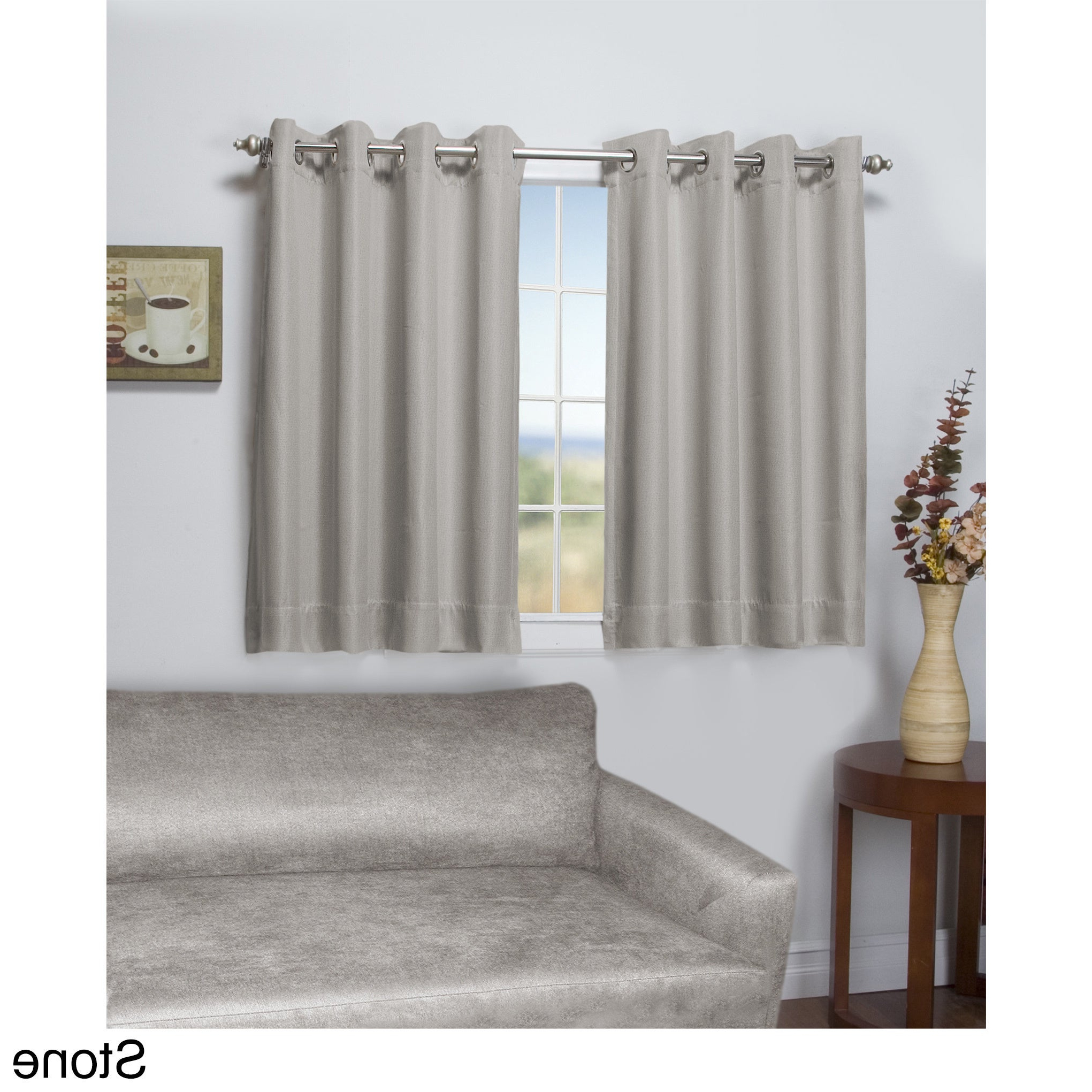 Preferred Tacoma Double Blackout Grommet Curtain Panel – Short Length Pertaining To Blackout Grommet Curtain Panels (View 17 of 20)