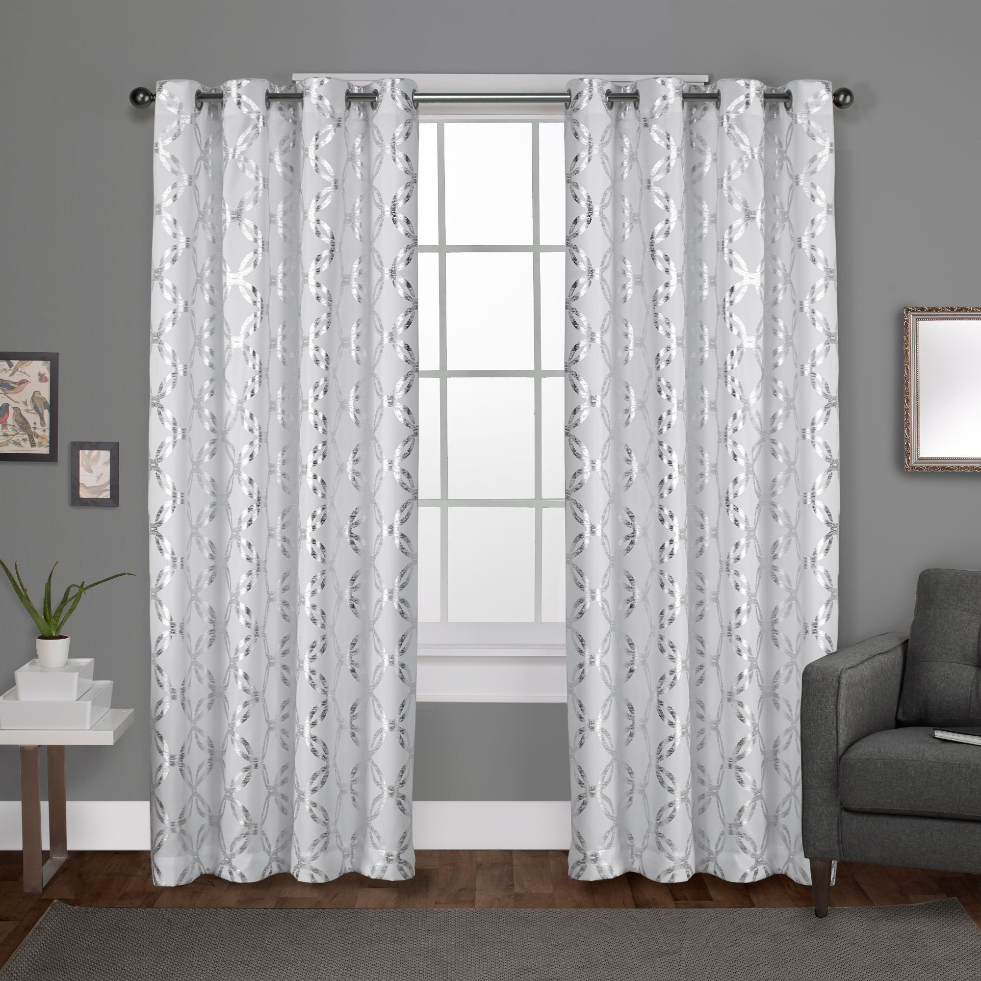 Preferred The Curated Nomad Sloat Metallic Geometric Grommet Top Curtain Panel Pair Intended For The Curated Nomad Duane Jacquard Grommet Top Curtain Panel Pairs (View 16 of 21)