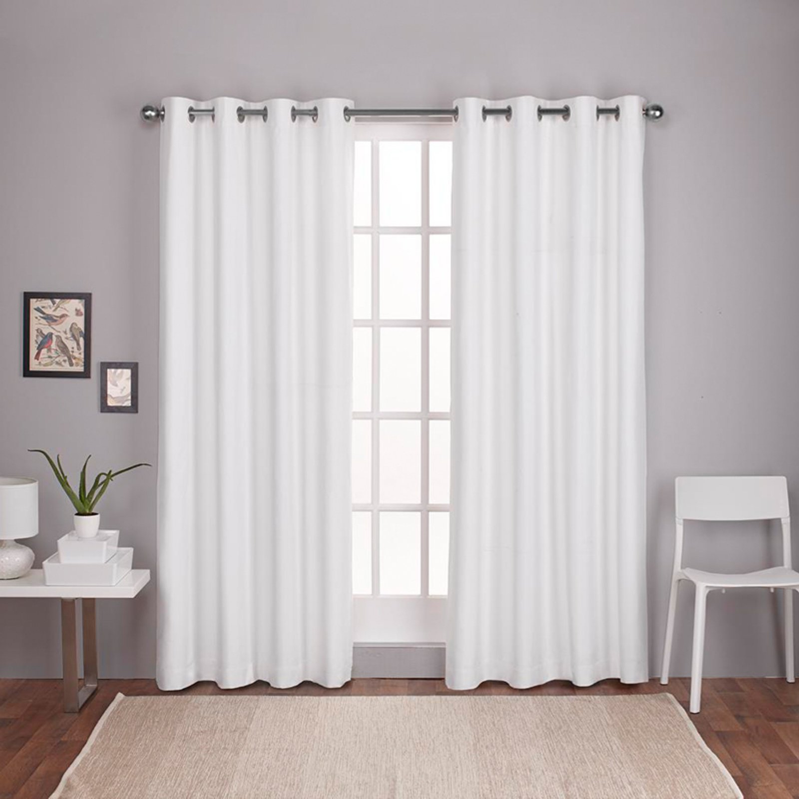 Preferred Thermal Textured Linen Grommet Top Curtain Panel Pairs Throughout Exclusive Home Curtains 2 Pack London Textured Linen Thermal Grommet Top Curtain Panels (View 2 of 20)
