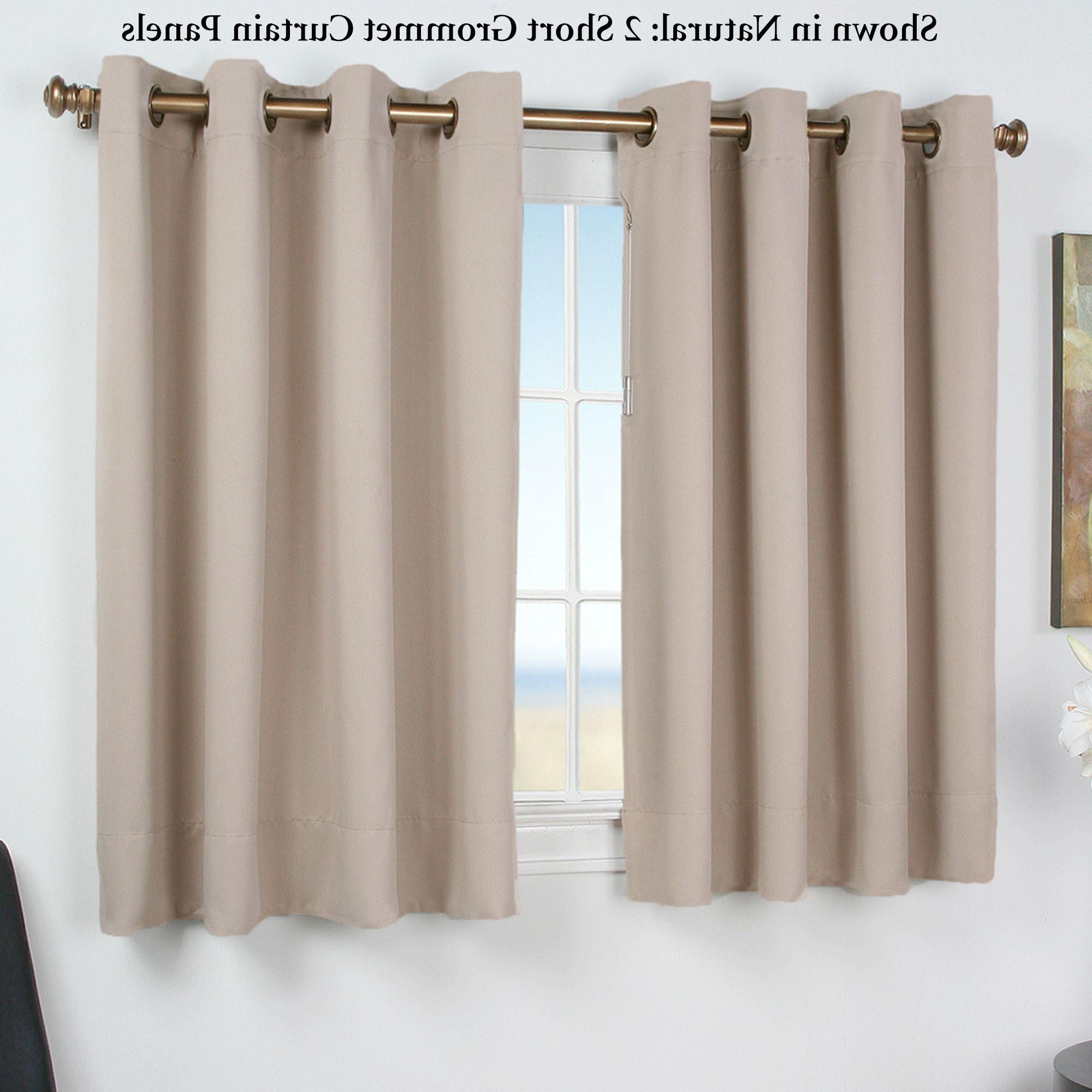 Preferred Ultimate Blackout Short Grommet Curtain Panel Regarding Grommet Curtain Panels (View 2 of 20)