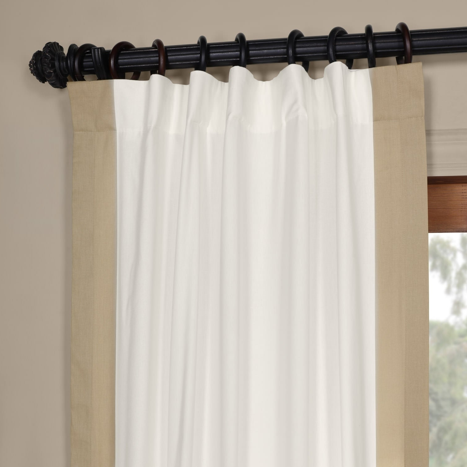 Preferred Vertical Colorblock Panama Curtains Within Exclusive Fabrics Vertical Colorblock Panama Curtain (View 9 of 20)