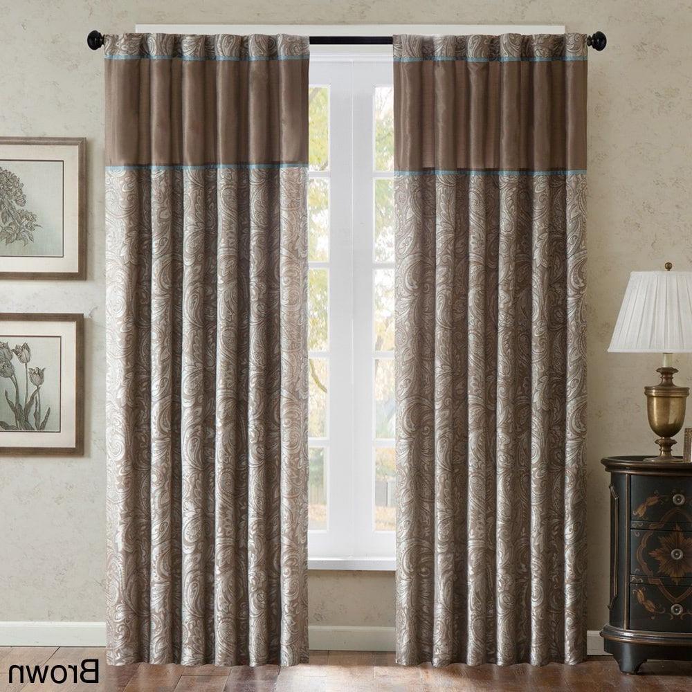 "Preferred Whitman Curtain Panel Pairs Regarding Madison Park Whitman Curtain Panel Pair 84"" (View 5 of 20)"
