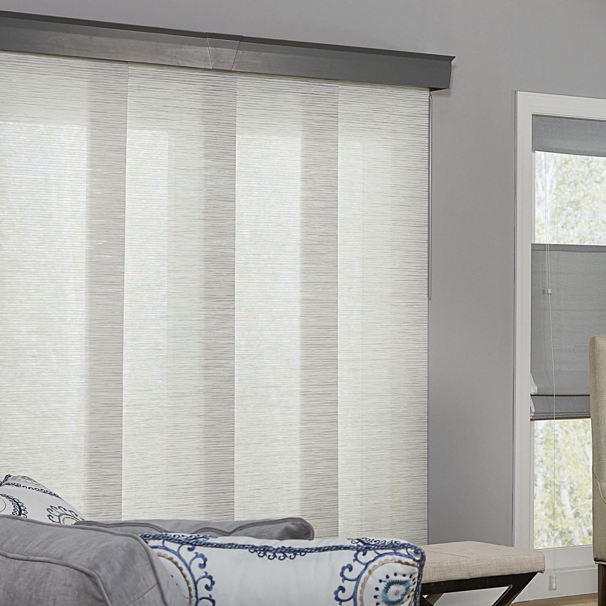 Pretty Popular Window Treatments For Sliding Glass Doors With Favorite Inez Patio Door Window Curtain Panels (View 18 of 20)