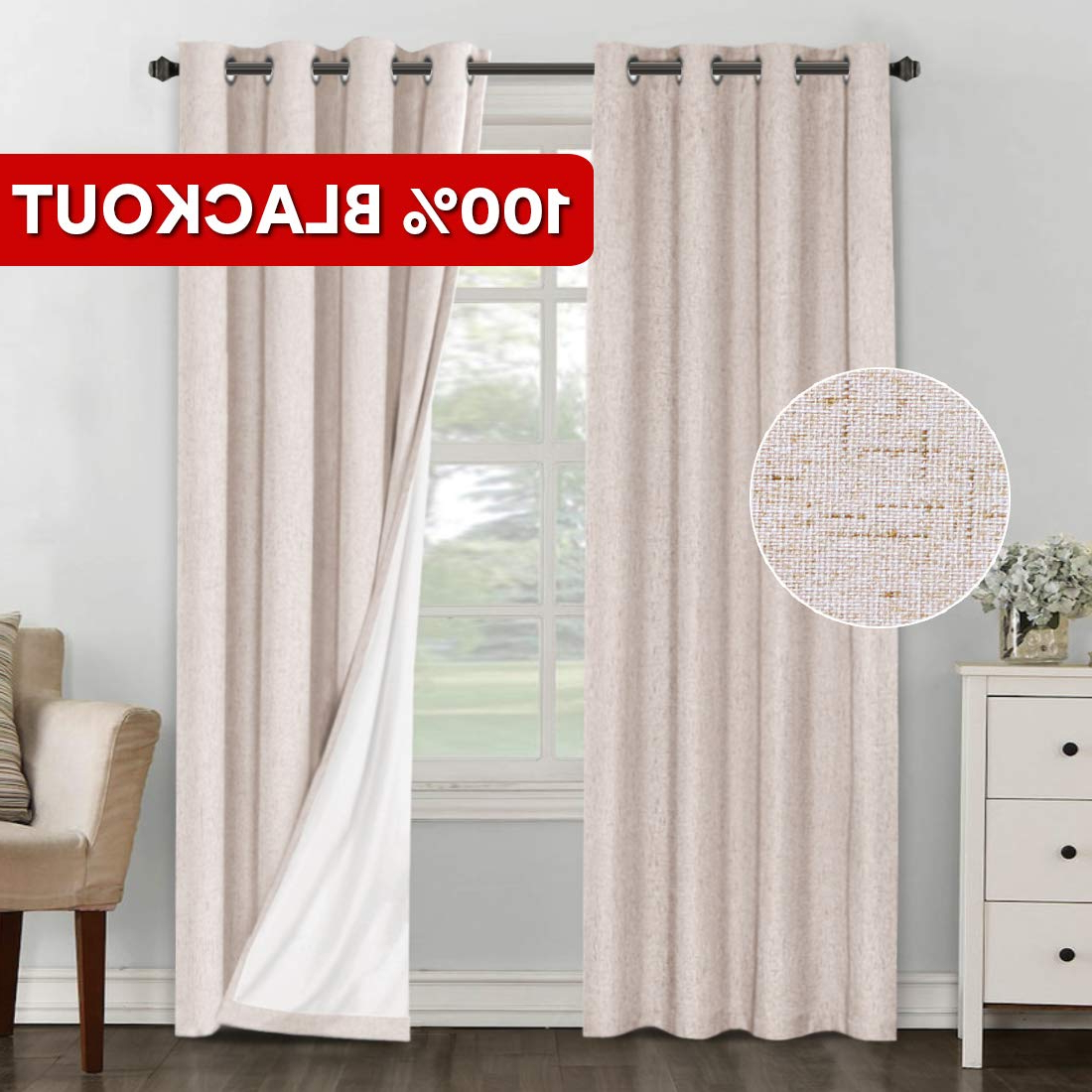 [%primebeau 100% Blackout Curtains 84 Inches Length Linen Look Thermal Insulated Energy Saving Window Curtain Drapers For Bedroom/living Room, Textured For 2021 Primebeau Geometric Pattern Blackout Curtain Pairs|primebeau Geometric Pattern Blackout Curtain Pairs With Newest Primebeau 100% Blackout Curtains 84 Inches Length Linen Look Thermal Insulated Energy Saving Window Curtain Drapers For Bedroom/living Room, Textured|newest Primebeau Geometric Pattern Blackout Curtain Pairs Throughout Primebeau 100% Blackout Curtains 84 Inches Length Linen Look Thermal Insulated Energy Saving Window Curtain Drapers For Bedroom/living Room, Textured|well Liked Primebeau 100% Blackout Curtains 84 Inches Length Linen Look Thermal Insulated Energy Saving Window Curtain Drapers For Bedroom/living Room, Textured For Primebeau Geometric Pattern Blackout Curtain Pairs%] (View 8 of 20)