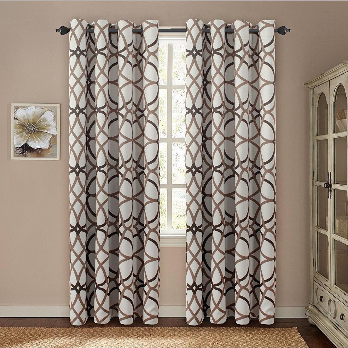 Primebeau Geometric Pattern Blackout Curtain Pair 2 Pack Regarding 2020 Primebeau Geometric Pattern Blackout Curtain Pairs (View 3 of 20)