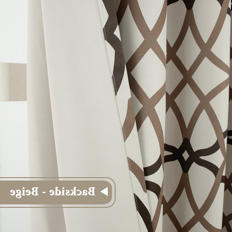Primebeau Geometric Pattern Blackout Curtain Pairs Regarding Trendy Primebeau Geometric Pattern Blackout Curtain Pair 2 Pack (View 10 of 20)