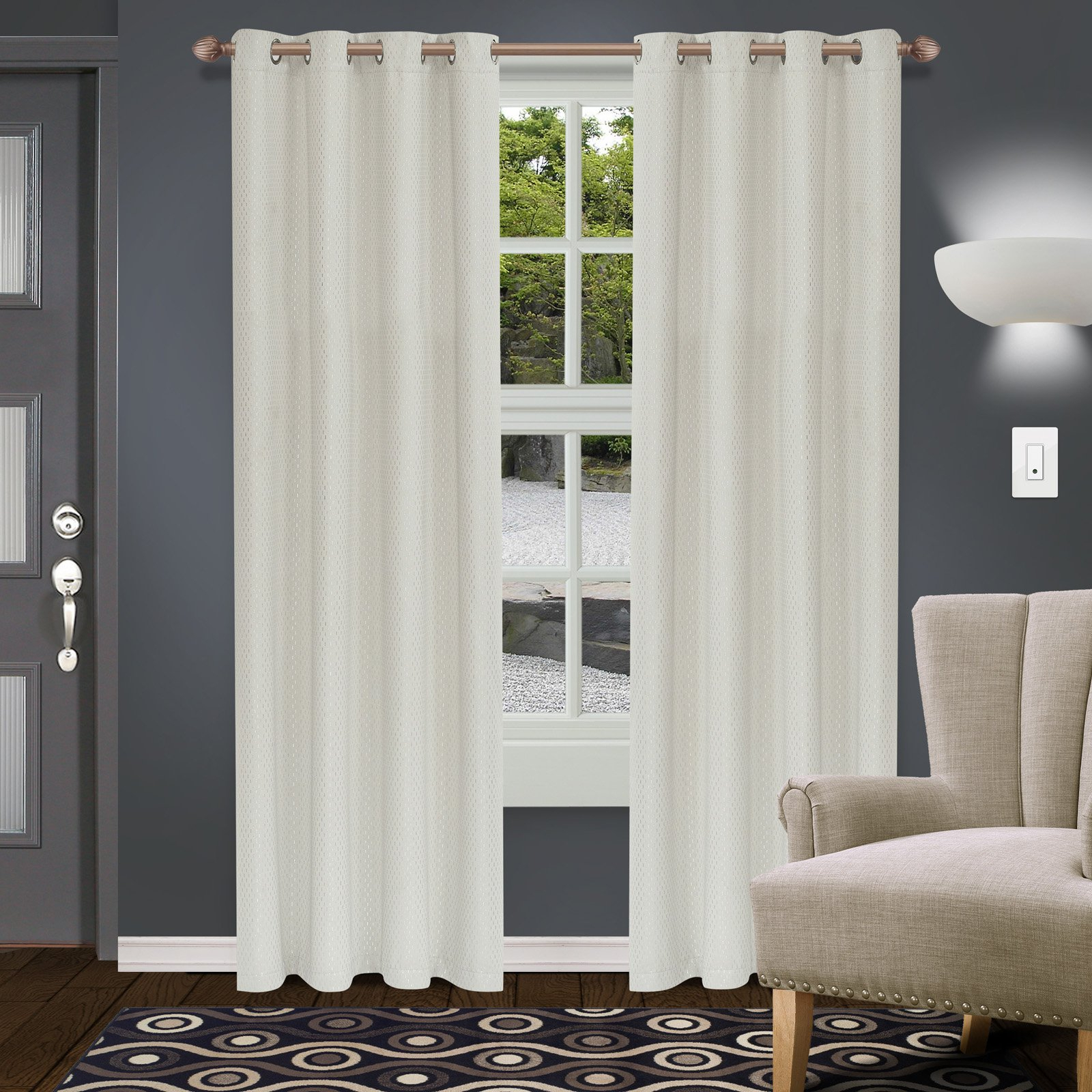 Products For Popular Superior Leaves Insulated Thermal Blackout Grommet Curtain Panel Pairs (View 10 of 20)