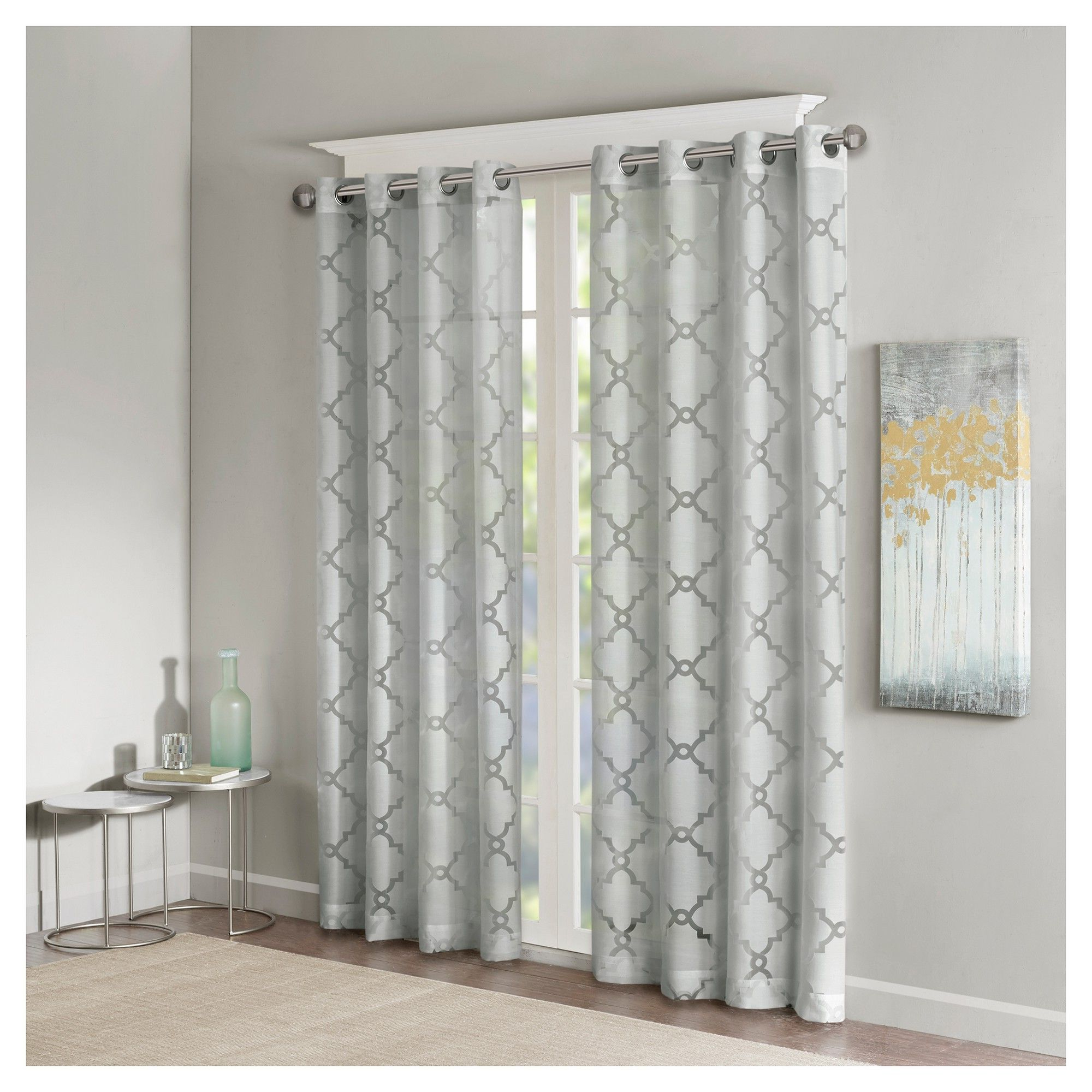 Products Regarding Elowen White Twist Tab Voile Sheer Curtain Panel Pairs (View 15 of 20)
