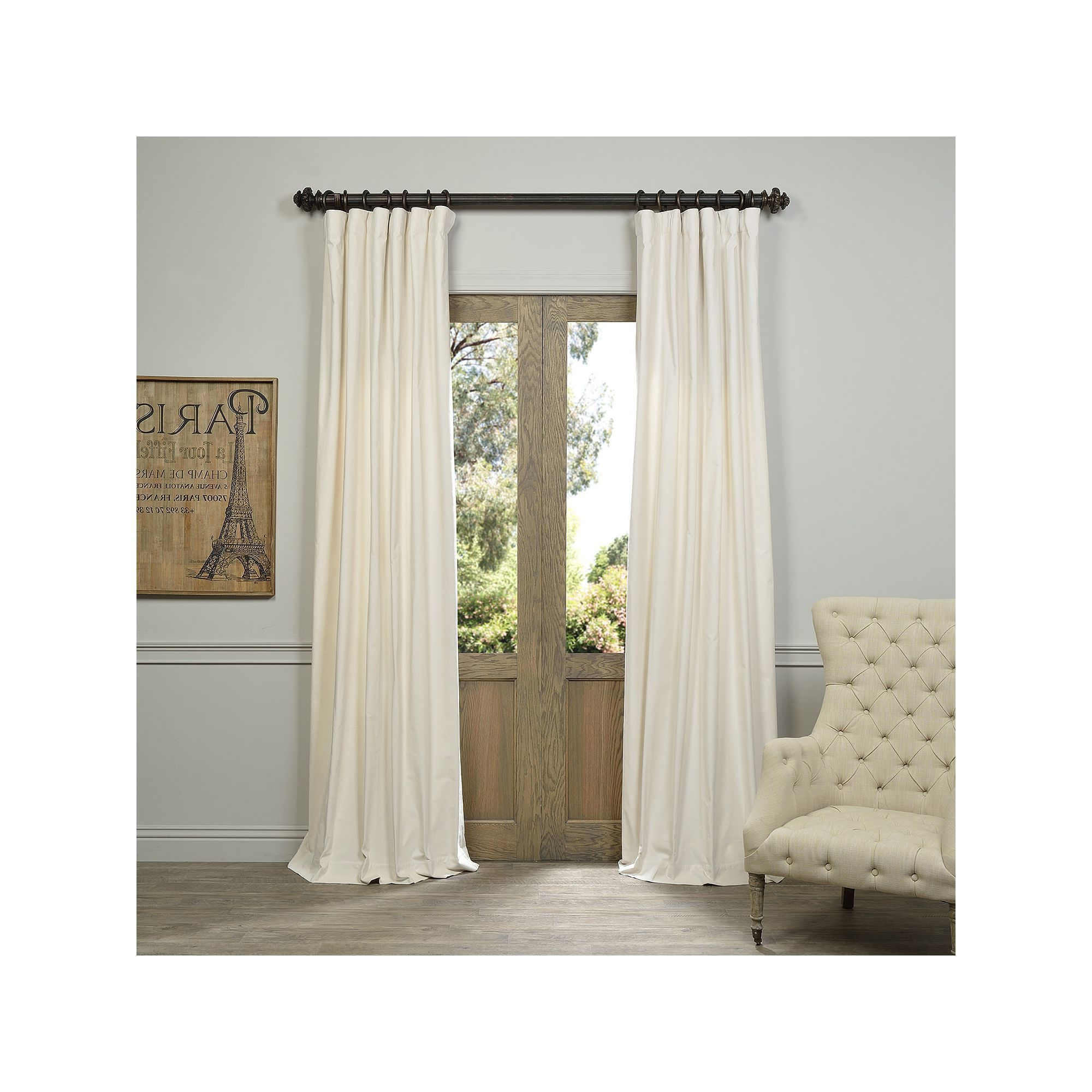 Products With Ice White Vintage Faux Textured Silk Curtain Panels (View 17 of 20)