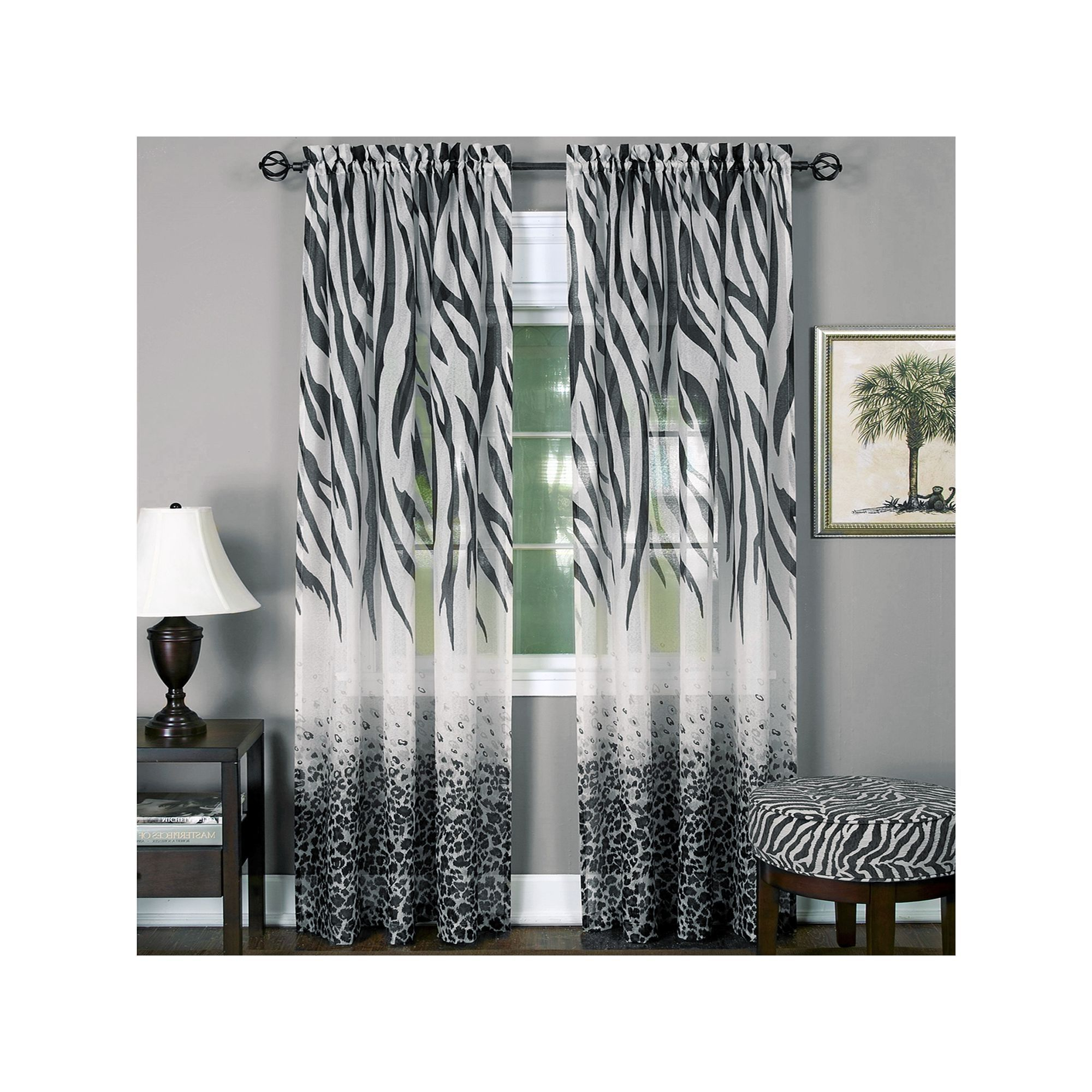 Products Within Famous Wilshire Burnout Grommet Top Curtain Panel Pairs (View 20 of 20)