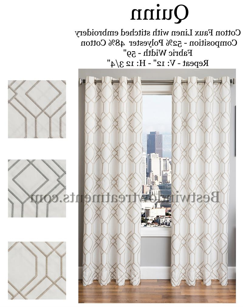 Quinn Linen Curtains : Modern Or Vintage Art Deco Style (View 19 of 21)
