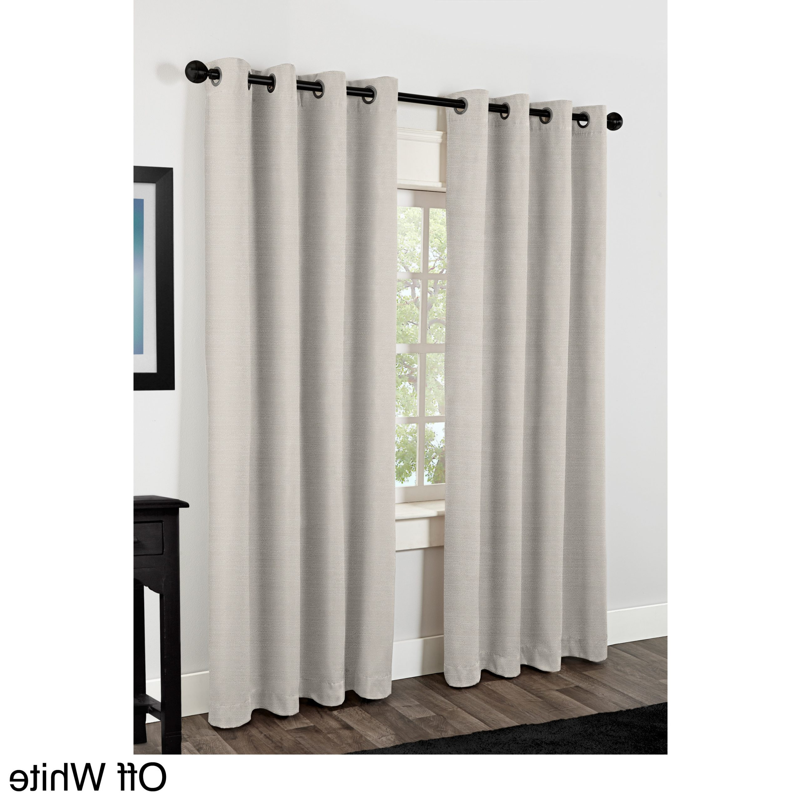 Raw Silk Thermal Insulated Grommet Top Curtain Panel Pairs For Most Popular Oliver & James Botero Raw Silk Thermal Insulated Grommet Top Curtain Panel  Pair (Gallery 8 of 20)