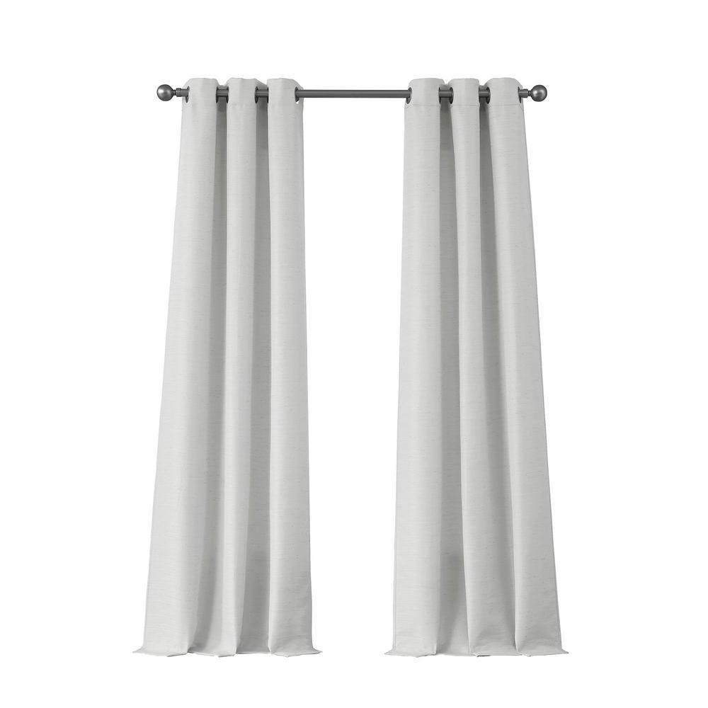 Raw Silk Thermal Insulated Grommet Top Curtain Panel Pairs In Most Up To Date Tribeca Raw Faux Silk Grommet 76 In. X 96 In (View 17 of 20)
