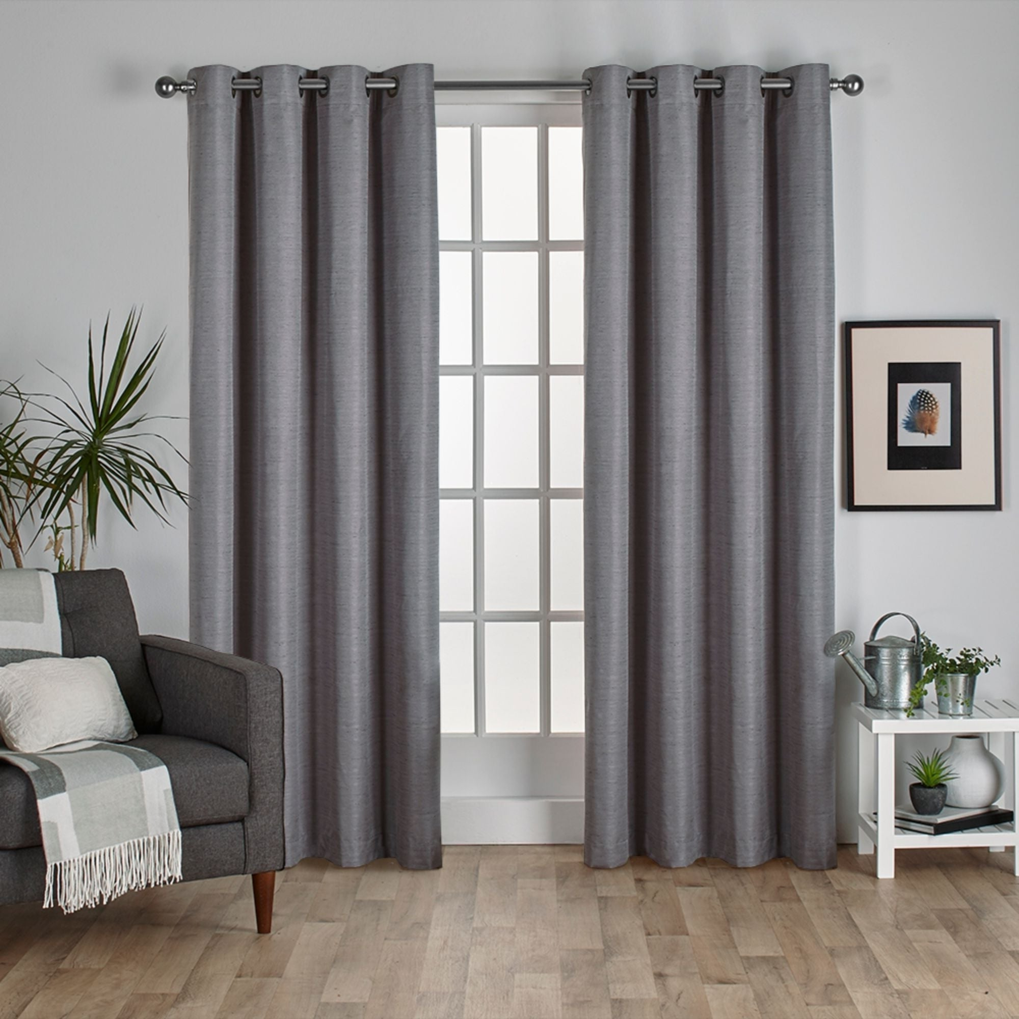 Featured Photo of Raw Silk Thermal Insulated Grommet Top Curtain Panel Pairs