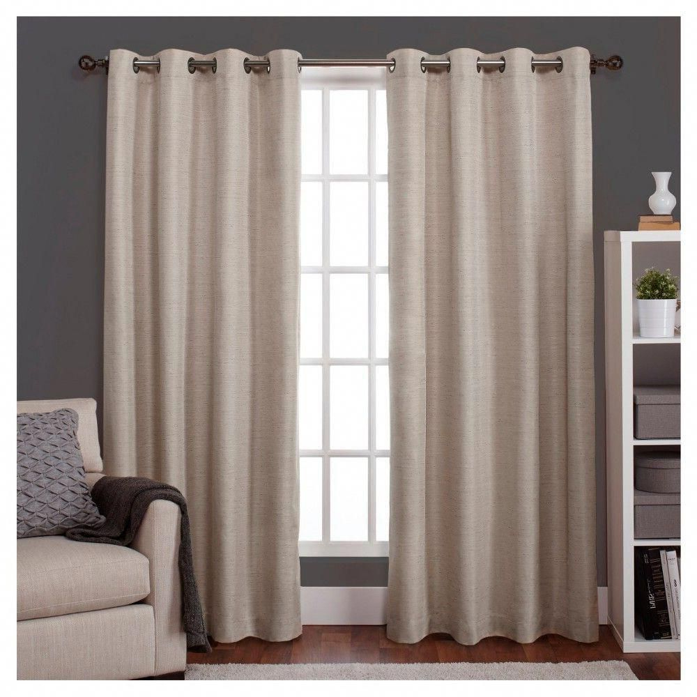 Raw Silk Thermal Insulated Grommet Top Curtain Panel Pairs With Regard To Favorite Raw Silk Insulated Thermal Grommet Top Window Curtain Panel (Gallery 10 of 20)