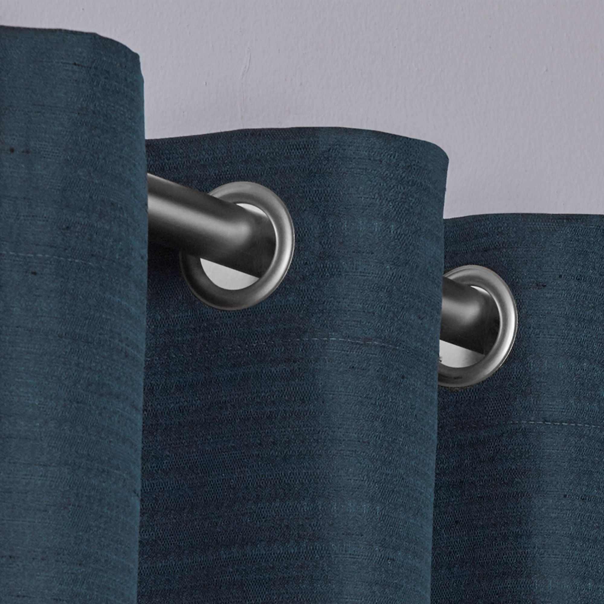 Raw Silk Thermal Insulated Grommet Top Curtain Panel Pairs Within Current Porch & Den Patchen Raw Silk Thermal Insulated Grommet Top Curtain Panel Pair (View 16 of 20)