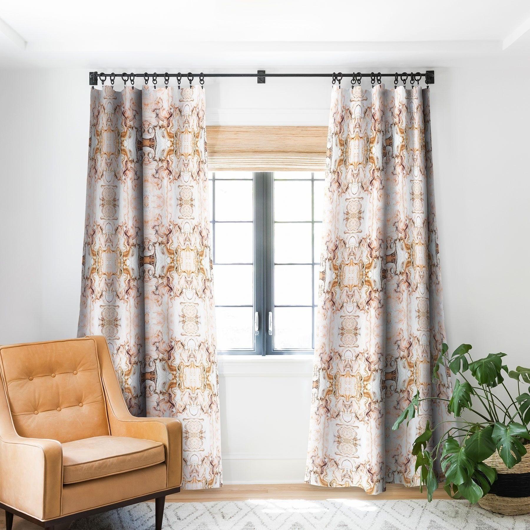 Recent Abstract Blackout Curtain Panel Pairs Inside Marta Barragan Camarasa Abstract Pink Marble Mosaic Blackout (View 11 of 20)