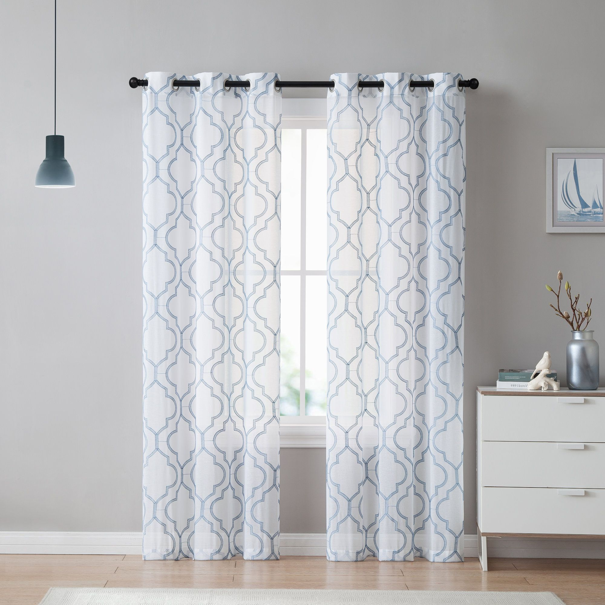 Recent Alvares Embroidery Curtain Panels (View 11 of 20)