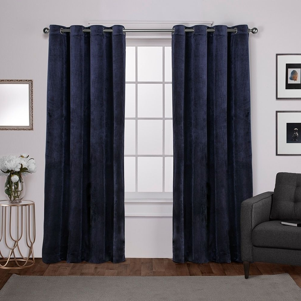 Recent Ati Home Velvet Heavyweight Grommet Top Window Curtain Panel Within Solid Grommet Top Curtain Panel Pairs (View 20 of 20)