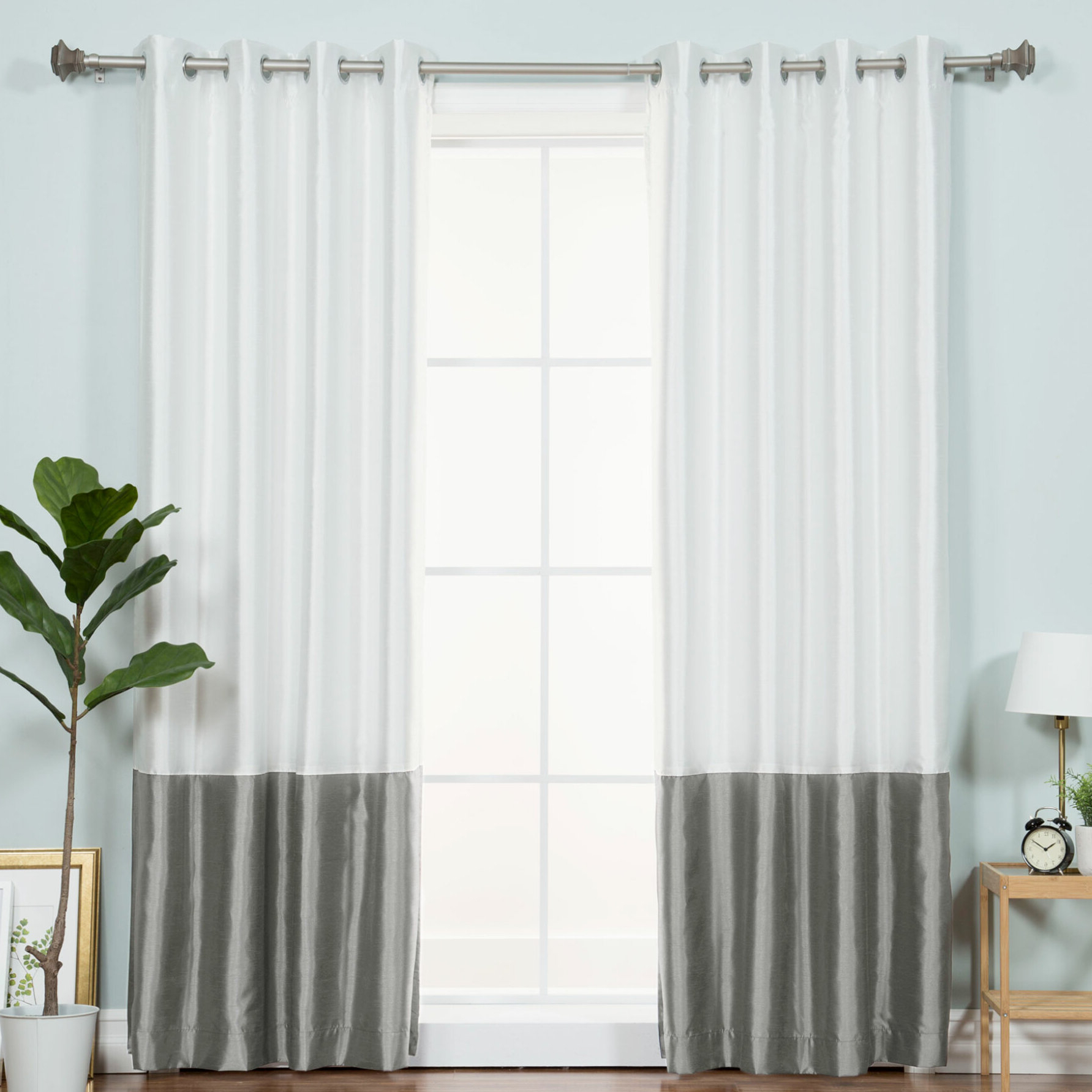 Recent Bicester Solid Blackout Thermal Grommet Single Curtain Panel With Regard To Luxury Collection Cranston Sheer Curtain Panel Pairs (Gallery 10 of 20)
